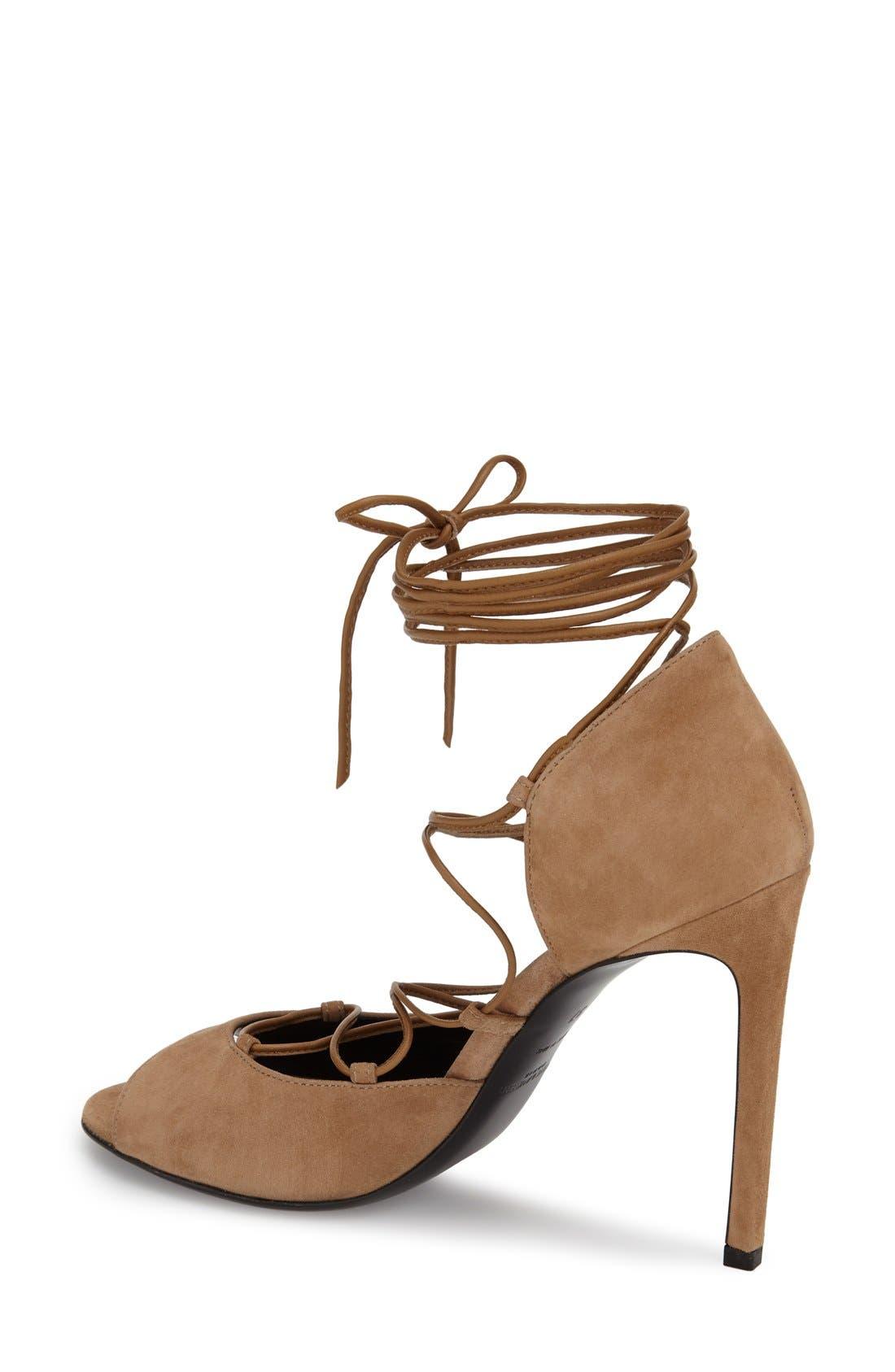 Alternate Image 2  - Saint Laurent 'Kate' Lace-Up Sandal (Women)