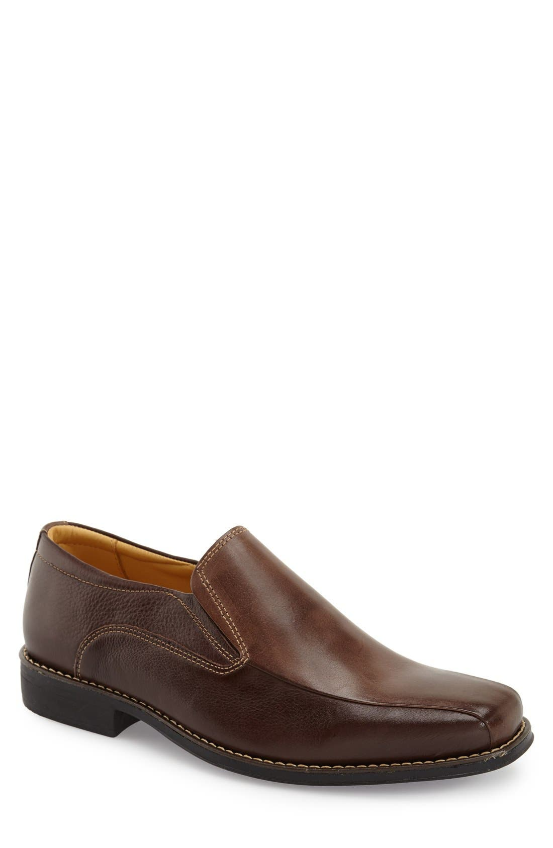'Jacobs Venetian' Slip-On,                         Main,                         color, Brown/ Brown
