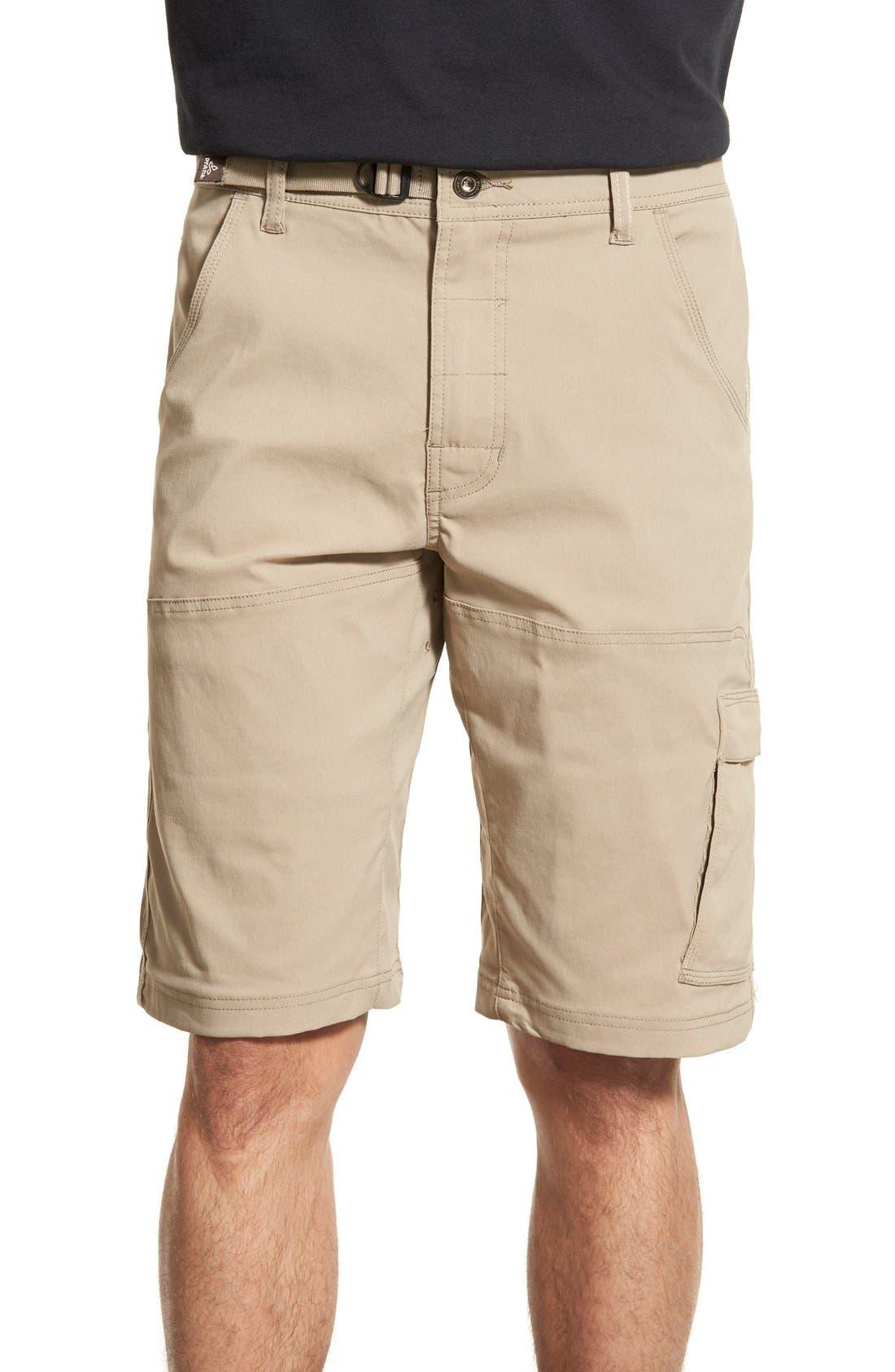 Zion Stretch Shorts,                             Main thumbnail 1, color,                             Dark Khaki