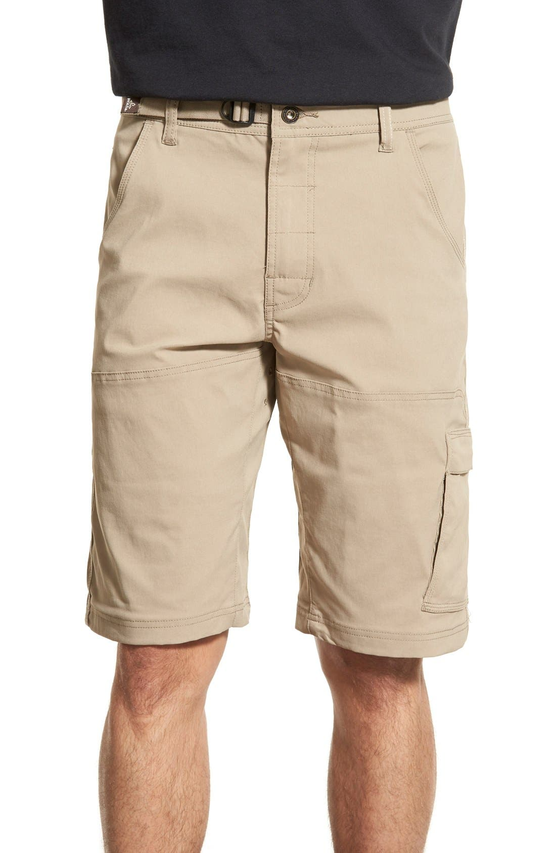 Zion Stretch Shorts,                         Main,                         color, Dark Khaki