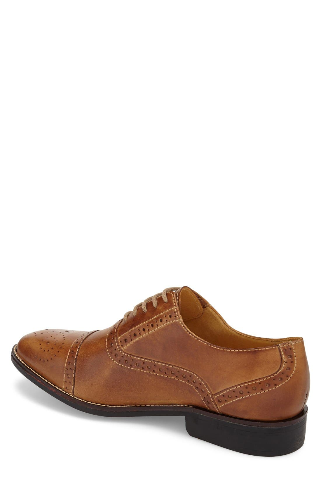 'Barrett' Cap Toe Oxford,                             Alternate thumbnail 2, color,                             Tan