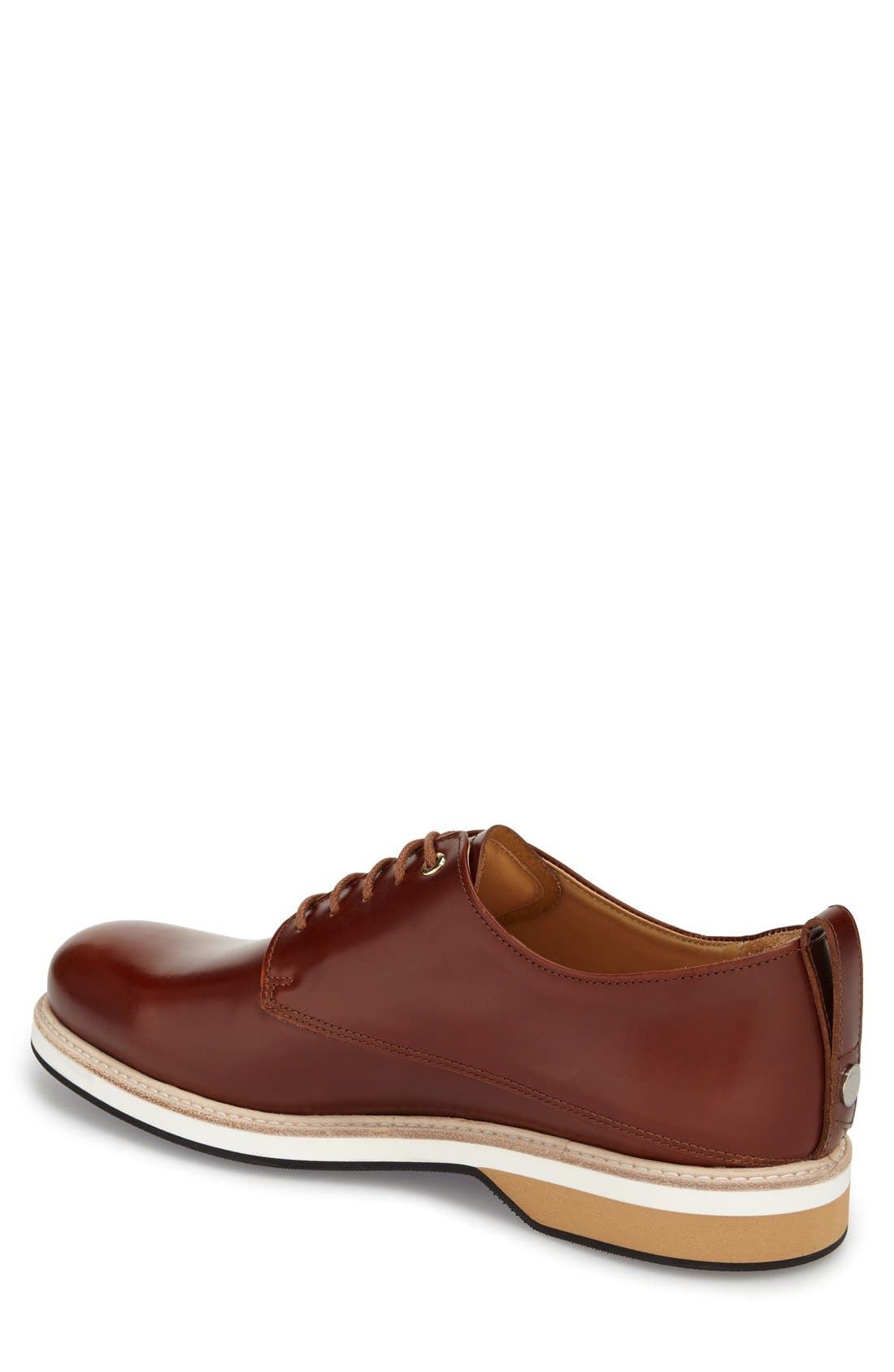 'Montoro' Derby,                             Alternate thumbnail 2, color,                             Cognac Leather