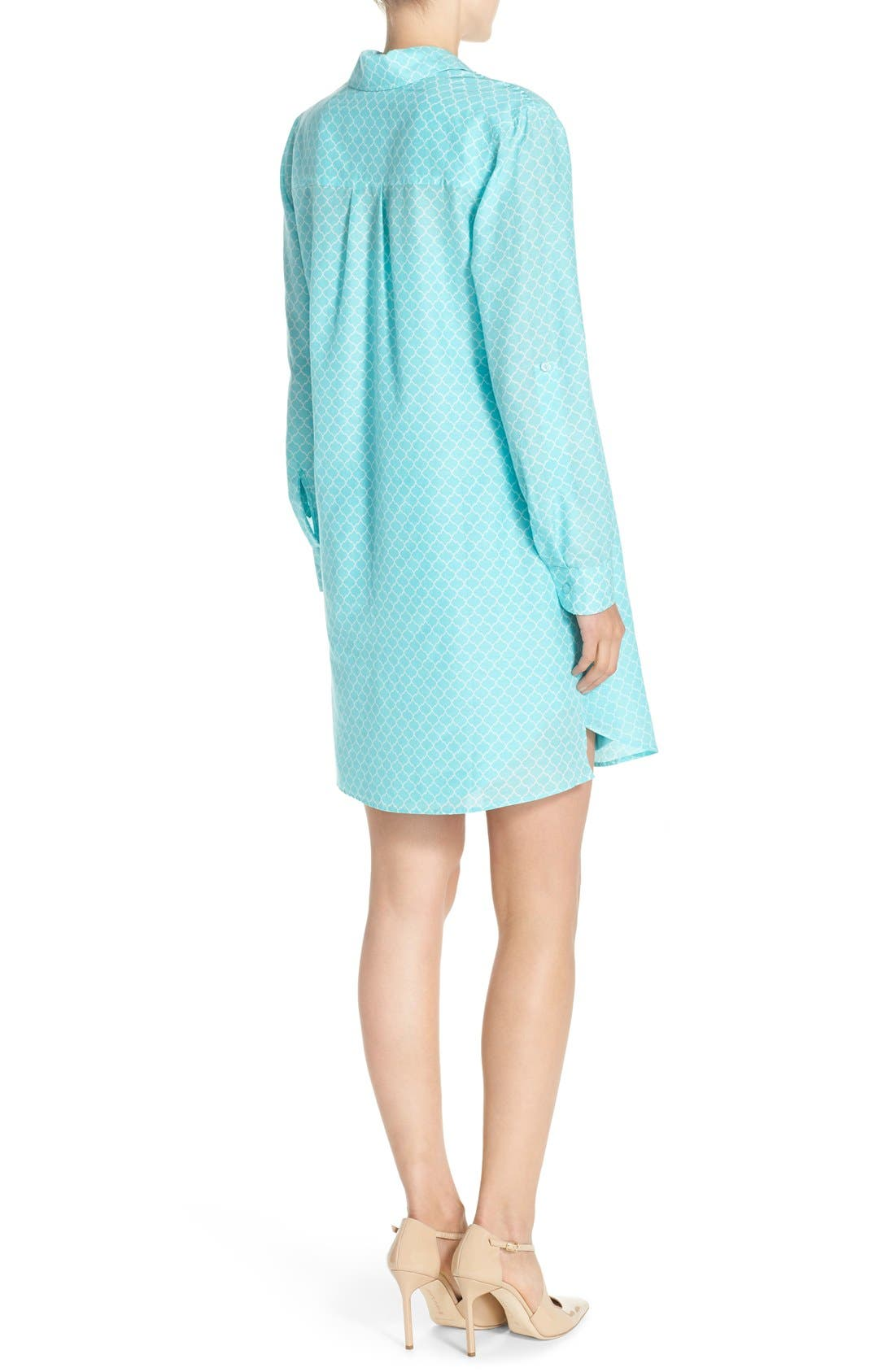Alternate Image 2  - KUT from the Kloth Print Chambray Shirtdress