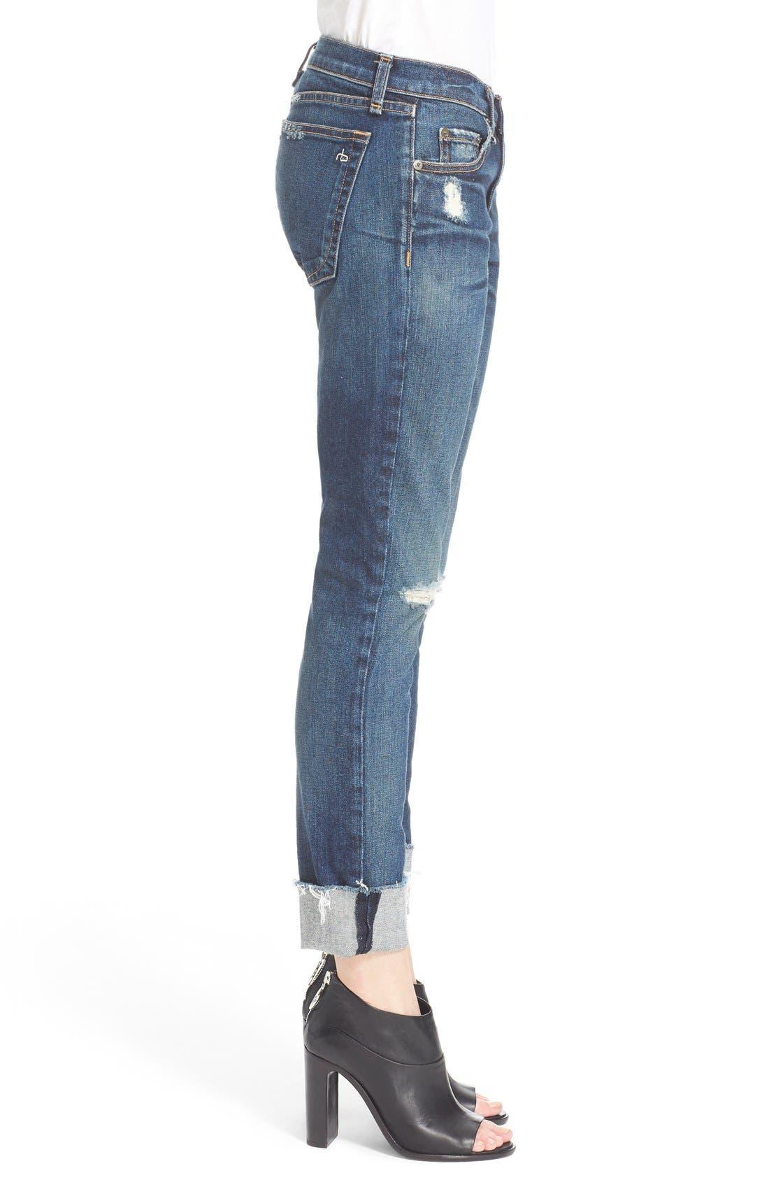 Alternate Image 2  - rag & bone/JEAN 'The Dre' Slim Fit Boyfriend Jeans (Mabel)
