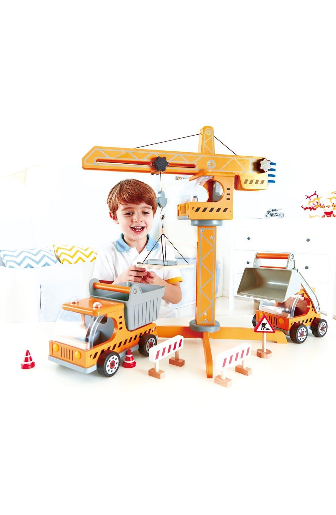 Alternate Image 5  - Hape Crane Lift Toy