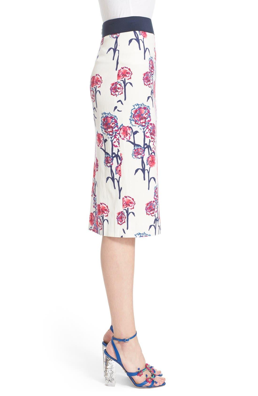 Alternate Image 3  - Tanya Taylor Textured Garden Print Pencil Skirt