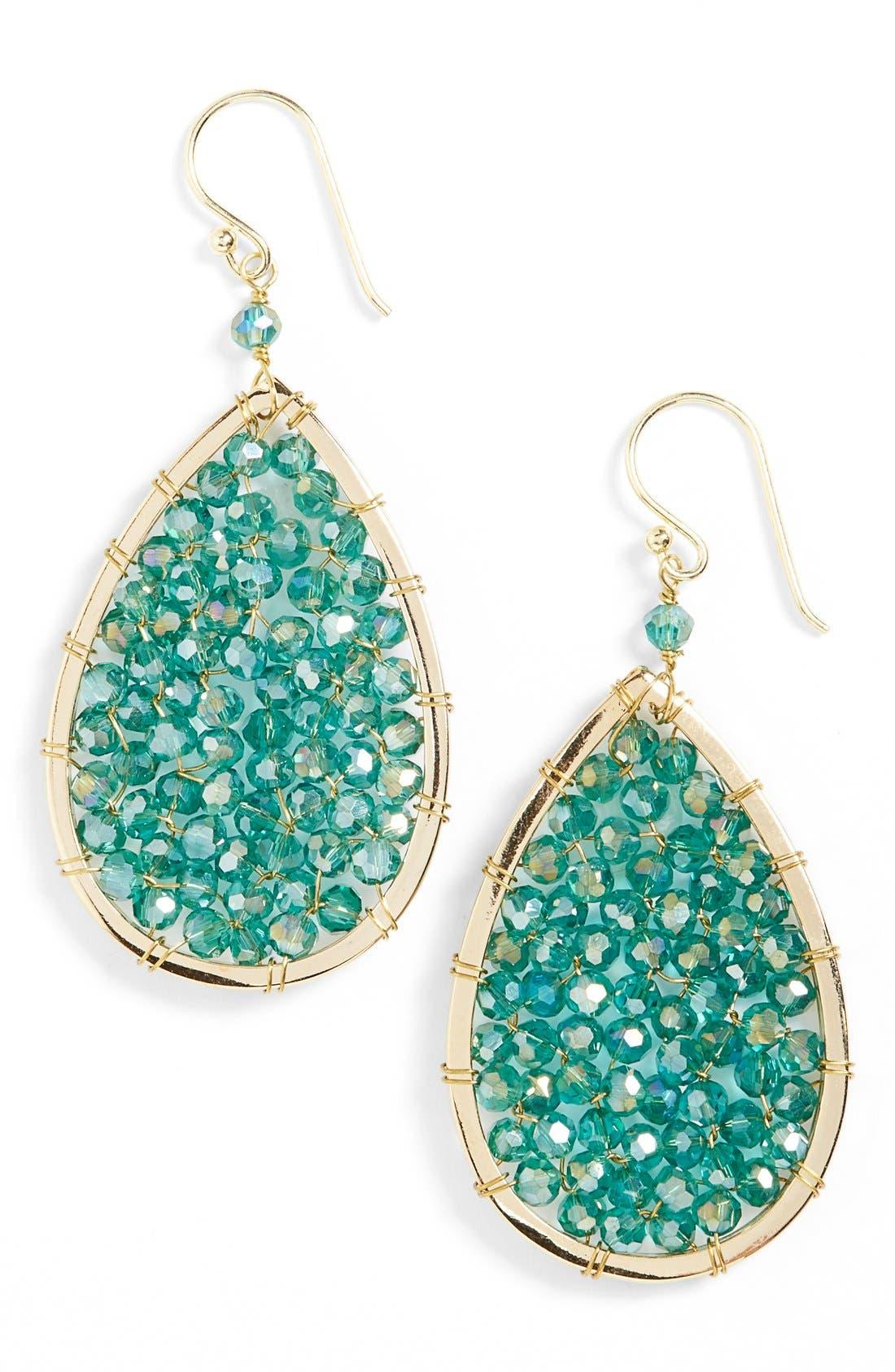 Alternate Image 1 Selected - Panacea Crystal Teardrop Earrings
