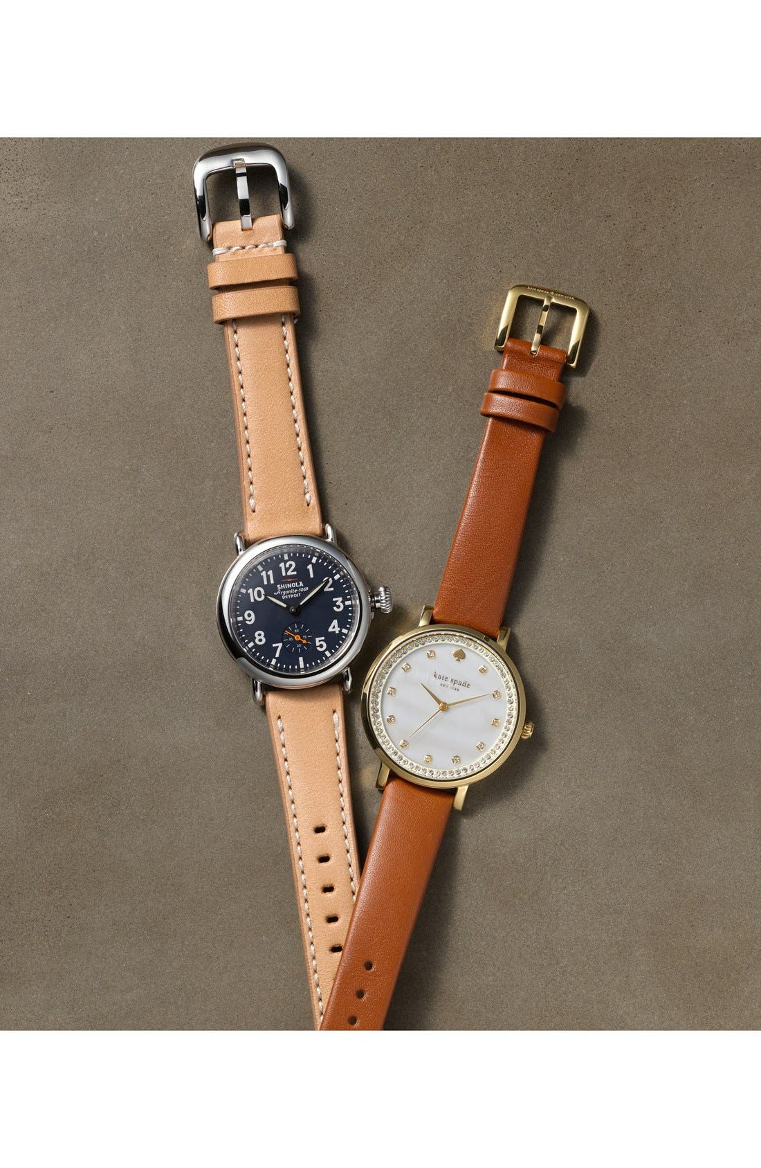 'The Runwell' Leather Strap Watch, 41mm,                             Alternate thumbnail 4, color,