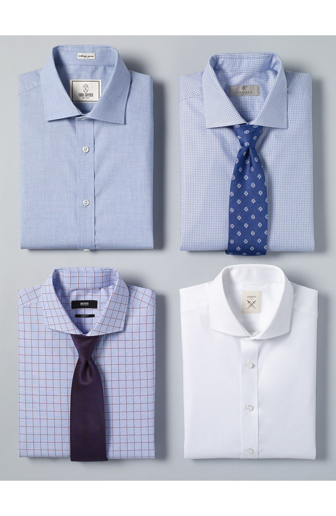 Alternate Image 3  - Strong Suit Trim Fit Solid Twill Dress Shirt