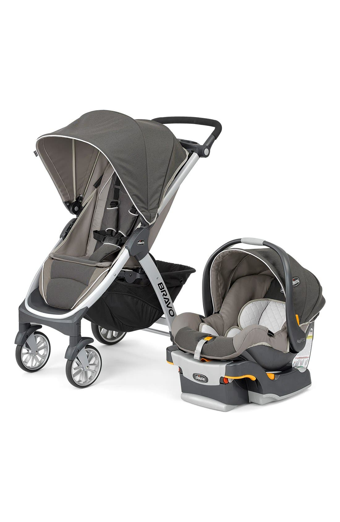 Bravo Trio Single Stroller & Car Seat Travel System,                         Main,                         color, Papyrus