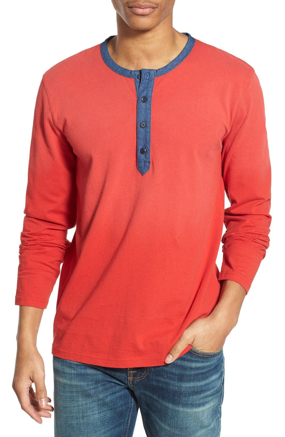 Alternate Image 1 Selected - Lucky Brand 'Fashion' Long Sleeve Henley