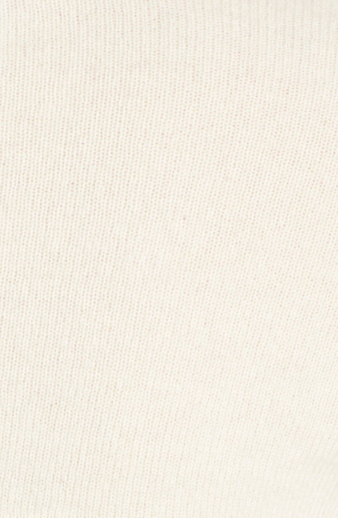 Mini Cashmere Knit Shrug,                             Alternate thumbnail 5, color,                             Ivory