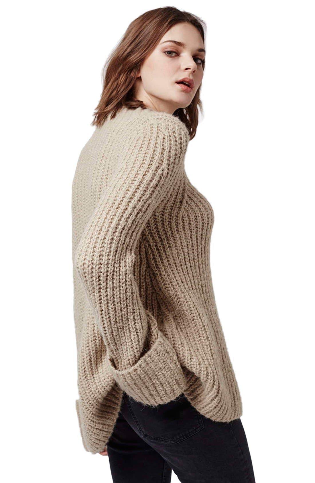 Alternate Image 3  - Topshop 'Jumbo' Funnel Neck Sweater