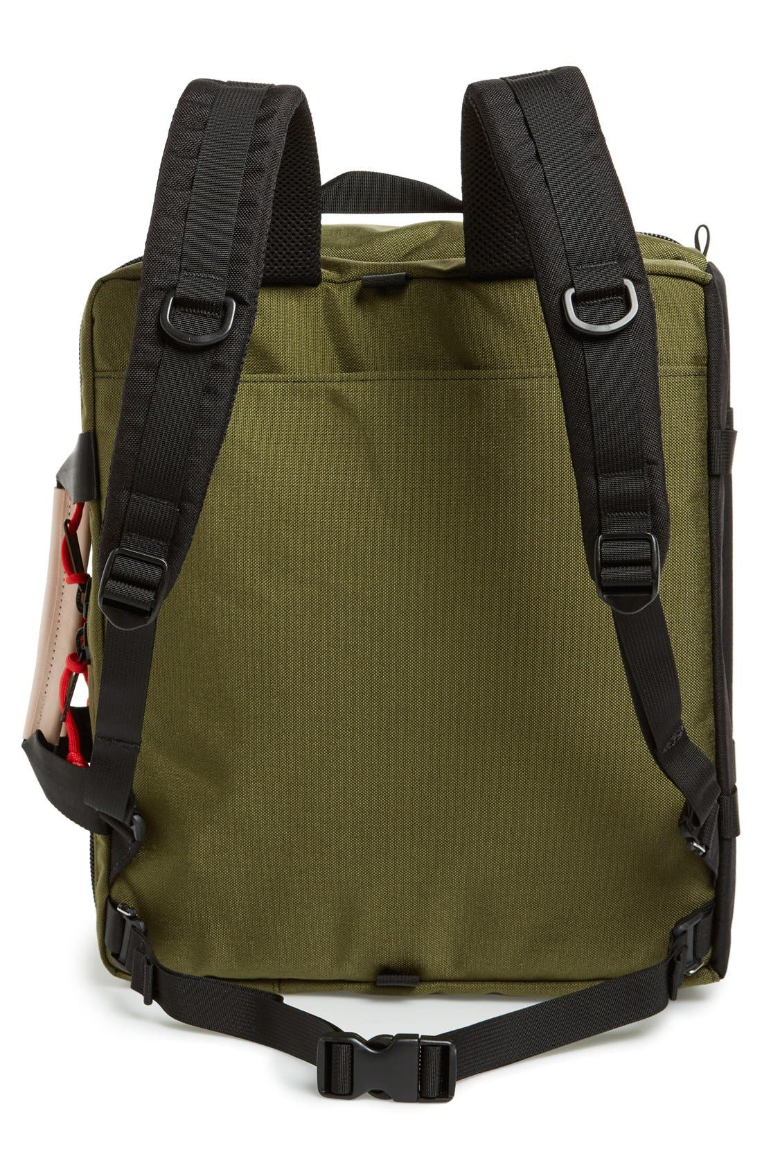 '3-Day' Briefcase,                             Alternate thumbnail 3, color,                             Black/ Olive