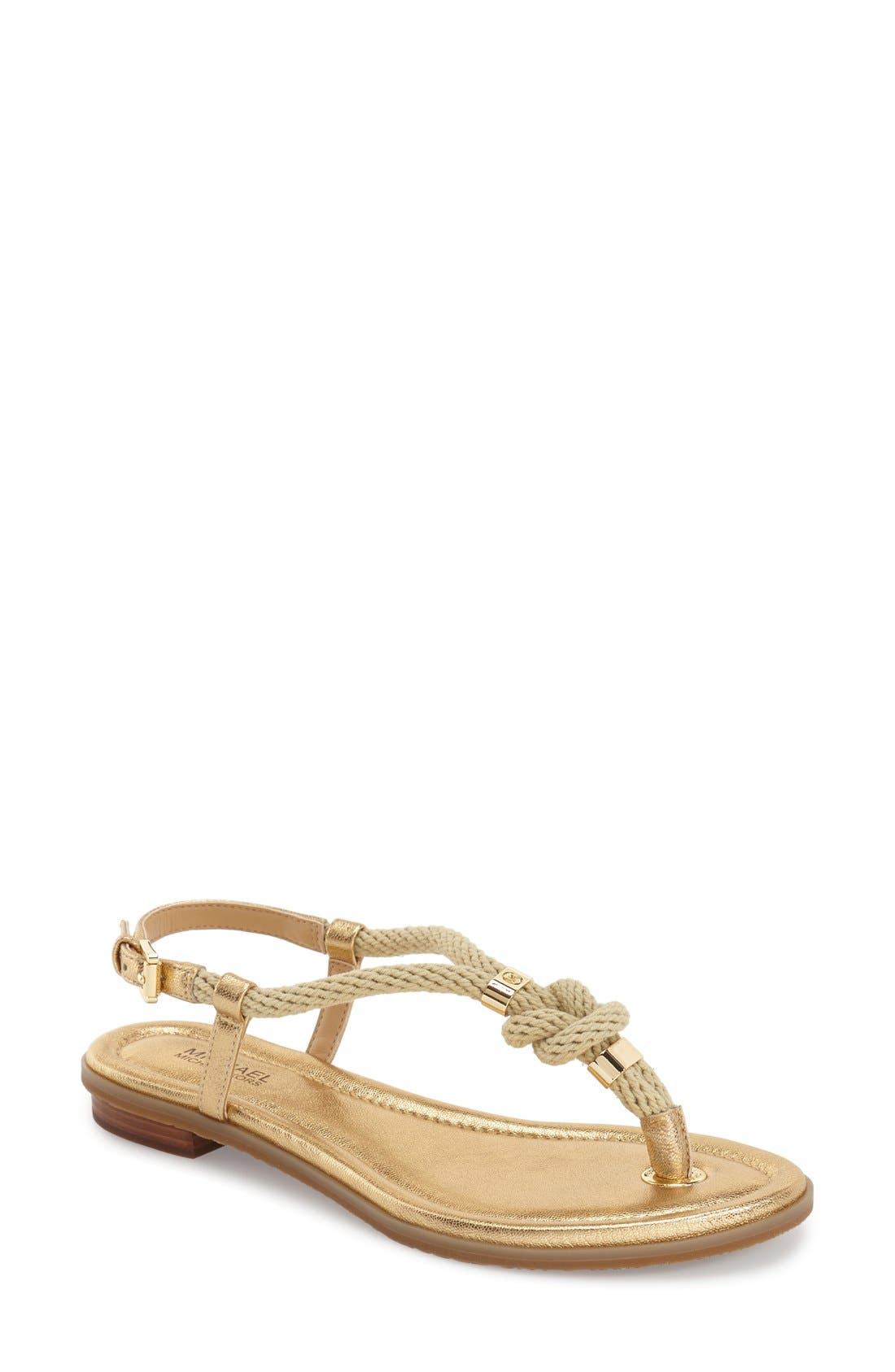 'Holly' Sandal,                         Main,                         color, Pale Gold