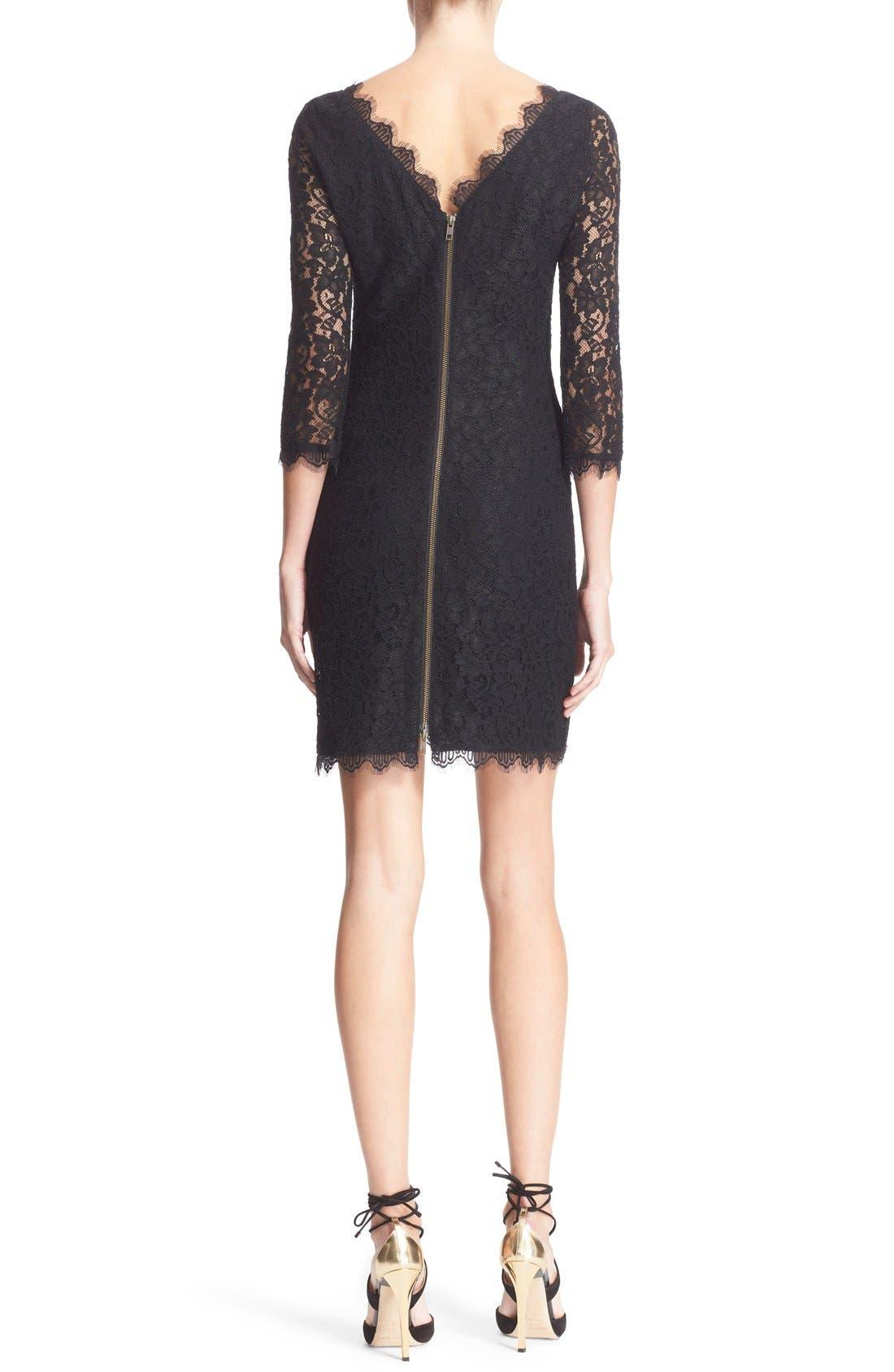 Alternate Image 2  - Diane von Furstenberg 'Zarita' Lace Sheath Dress