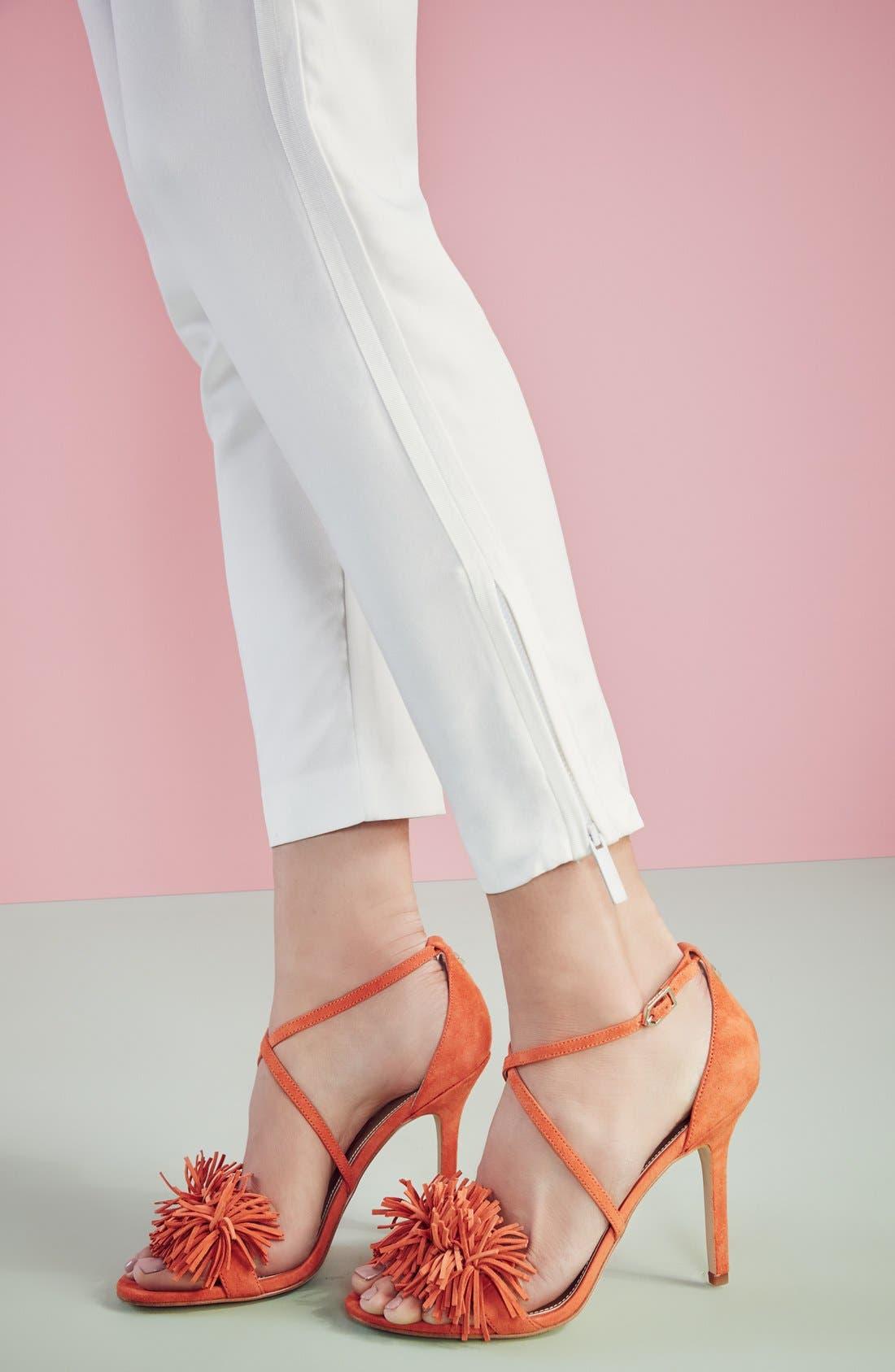 'Aisha' Fringe Sandal,                             Alternate thumbnail 5, color,