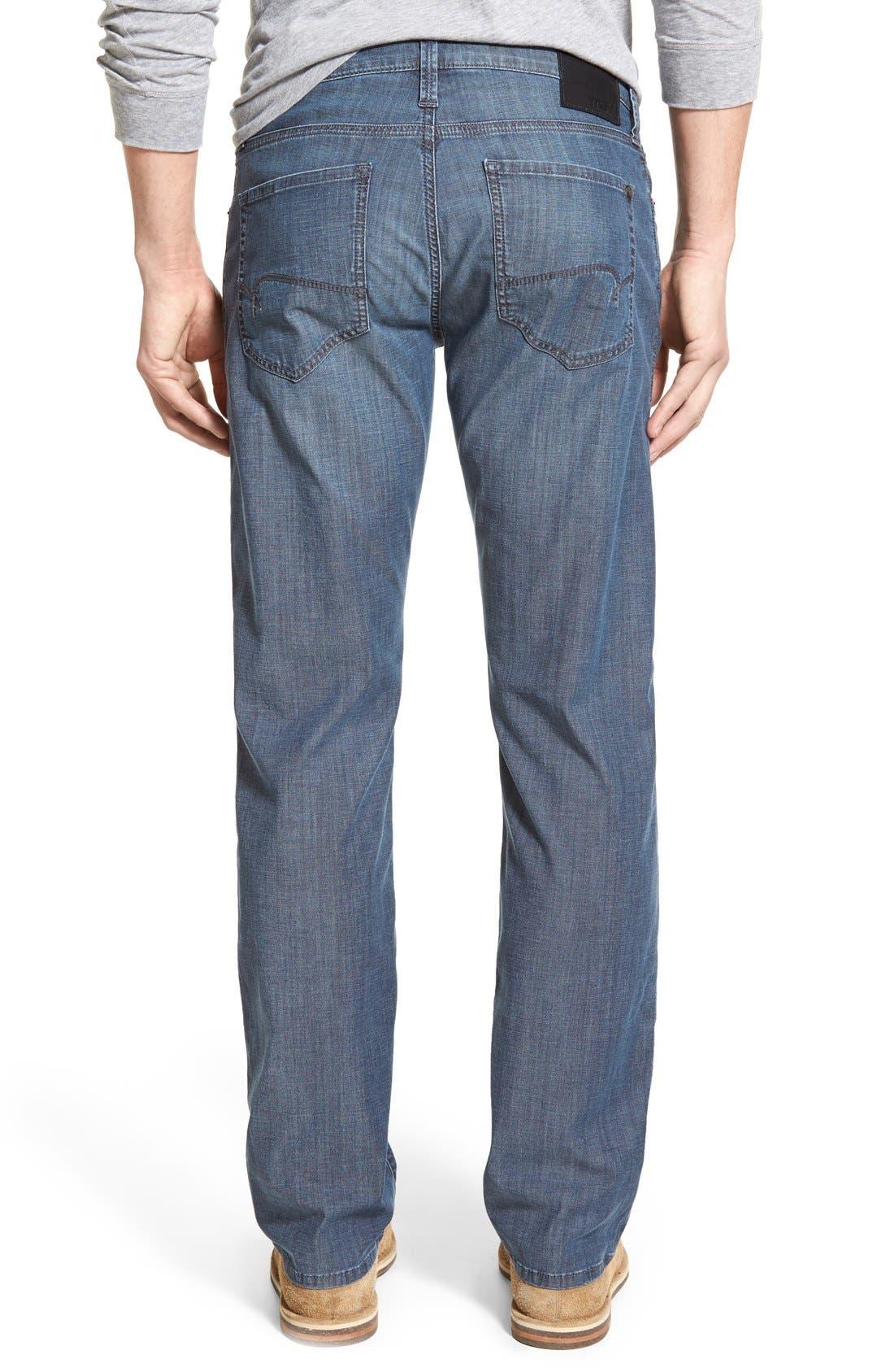 Alternate Image 2  - Mavi Jeans 'Zach' Straight Leg Jeans (Chambray) (Regular & Tall)
