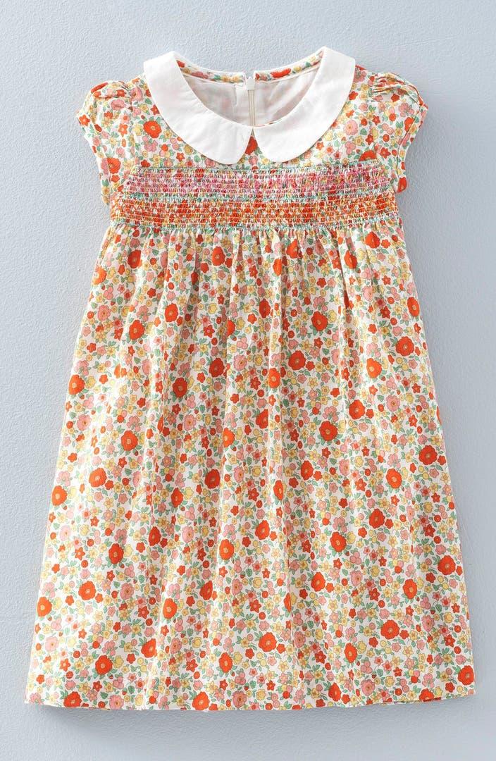 Mini boden 39 pretty 39 smocked detail print dress toddler for Shop mini boden