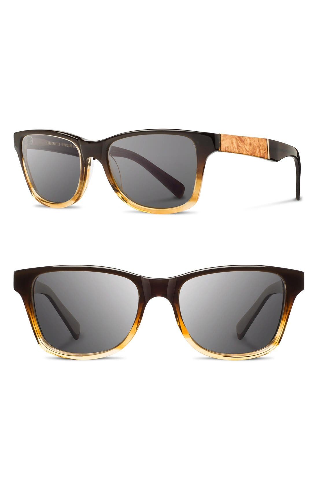 'Canby' 53mm Sunglasses,                         Main,                         color, Sweettea/ Maple/ Grey