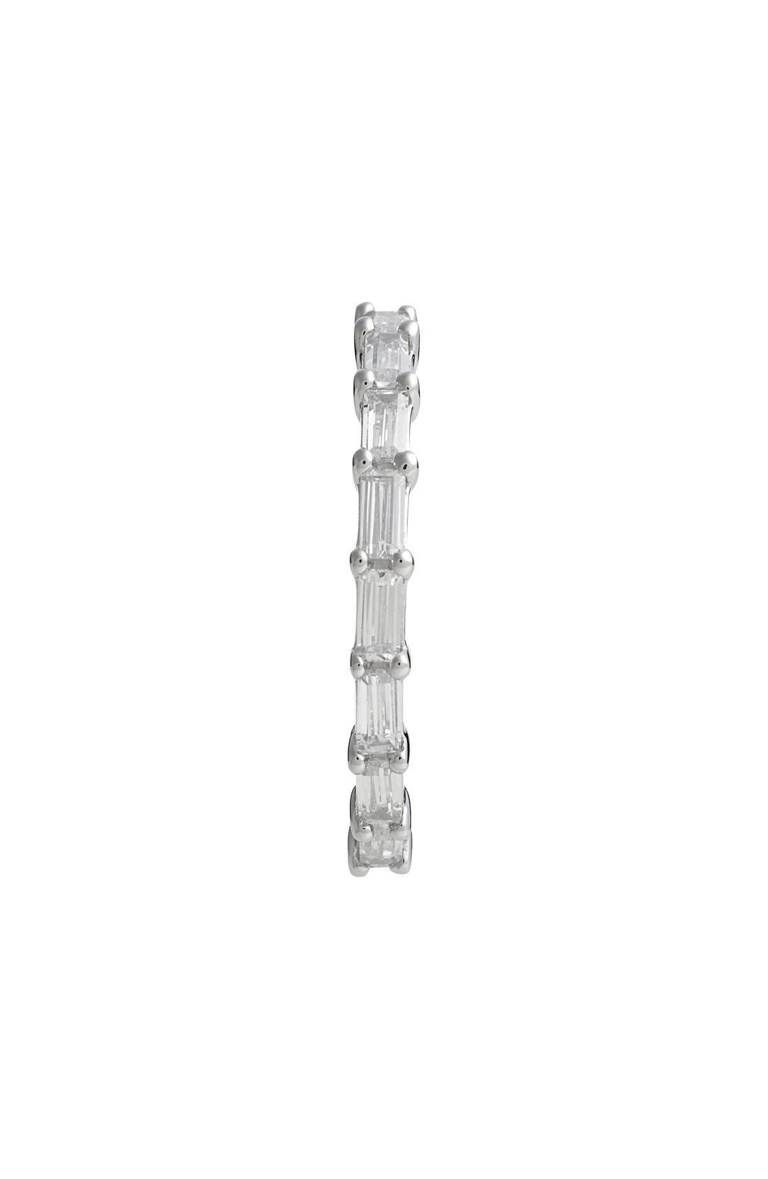 Stackable Baguette Band Ring,                             Alternate thumbnail 2, color,                             Silver