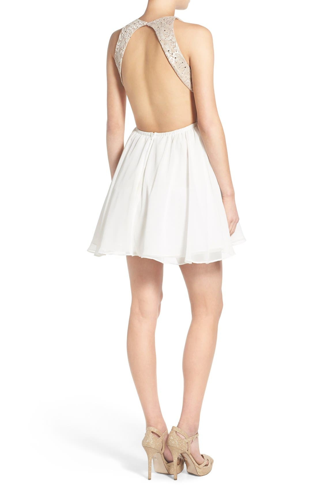 Alternate Image 2  - Dear Moon Sequin Bodice Skater Dress