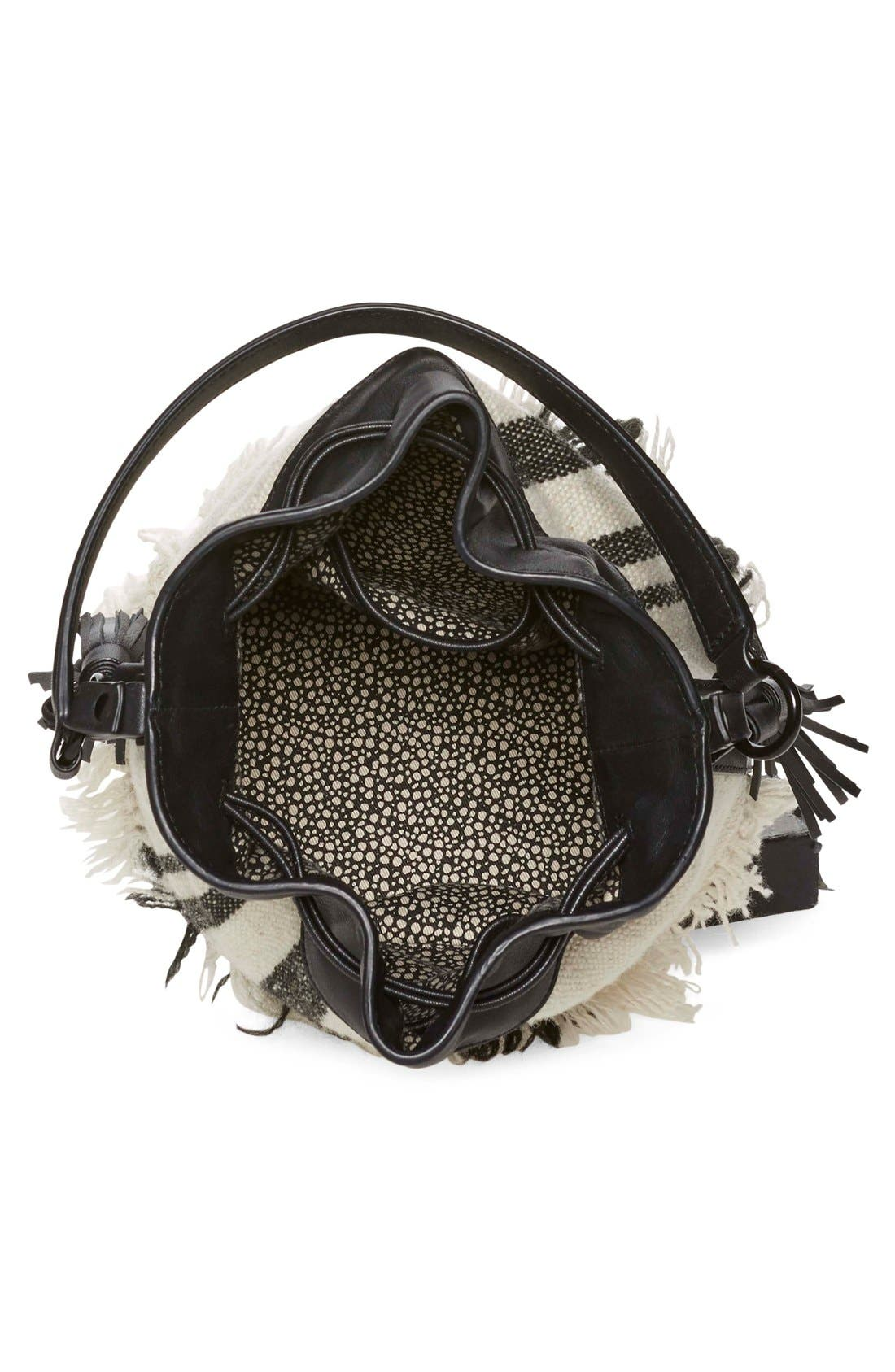 Alternate Image 4  - Loeffler Randall Woven Canvas & Nappa Leather Bucket Bag