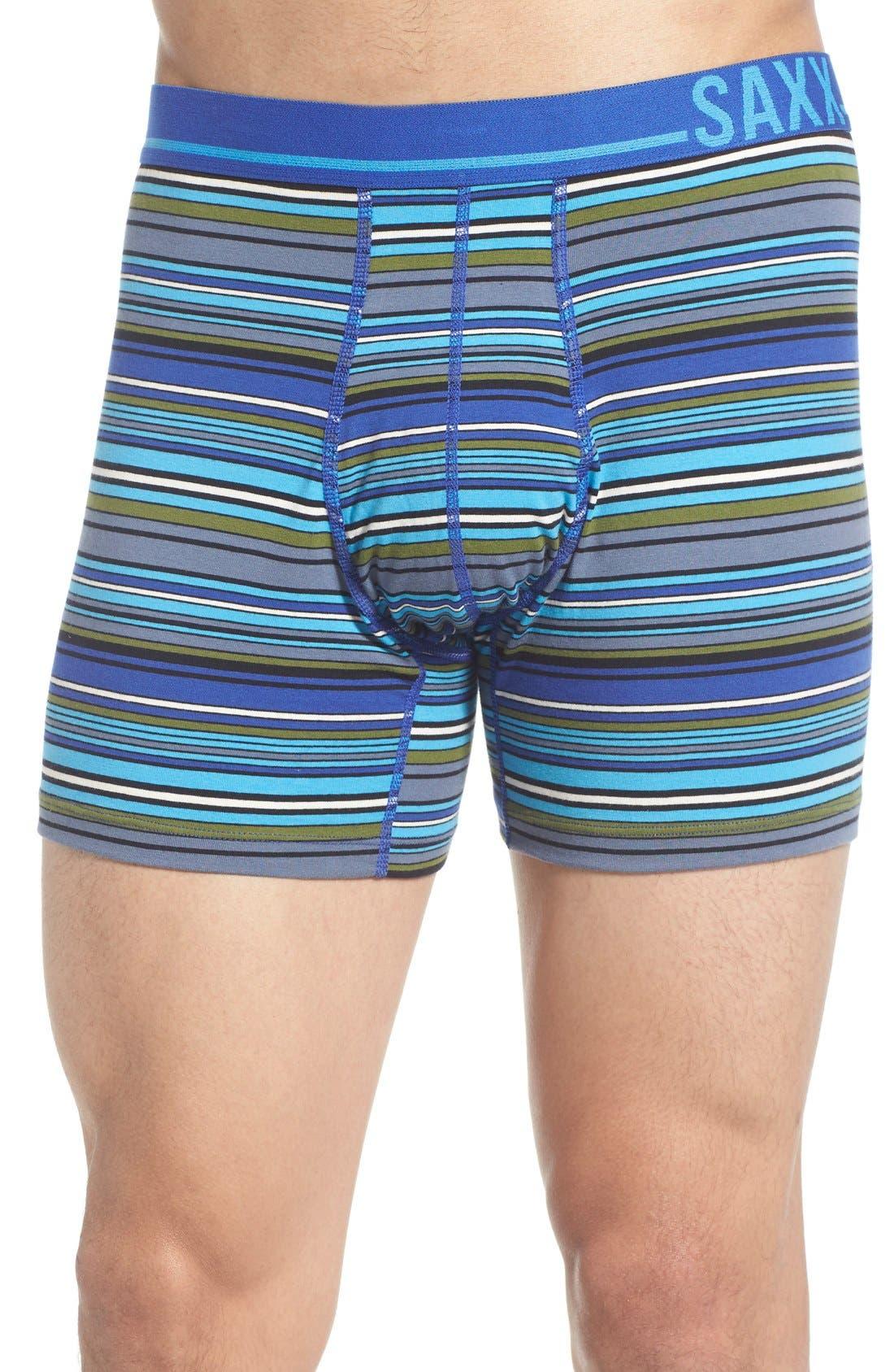 365 Boxer Briefs,                         Main,                         color, Cobalt Blanket Stripe