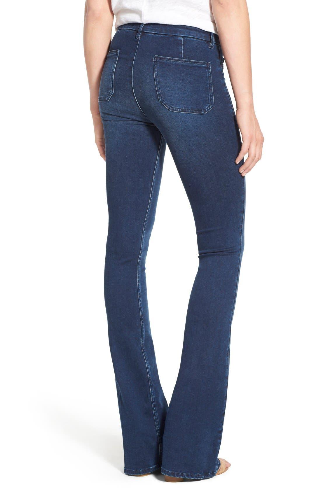 Alternate Image 2  - M.i.h. Jeans 'Superfit Marrakesh' Flare Jeans (Circle Blue)