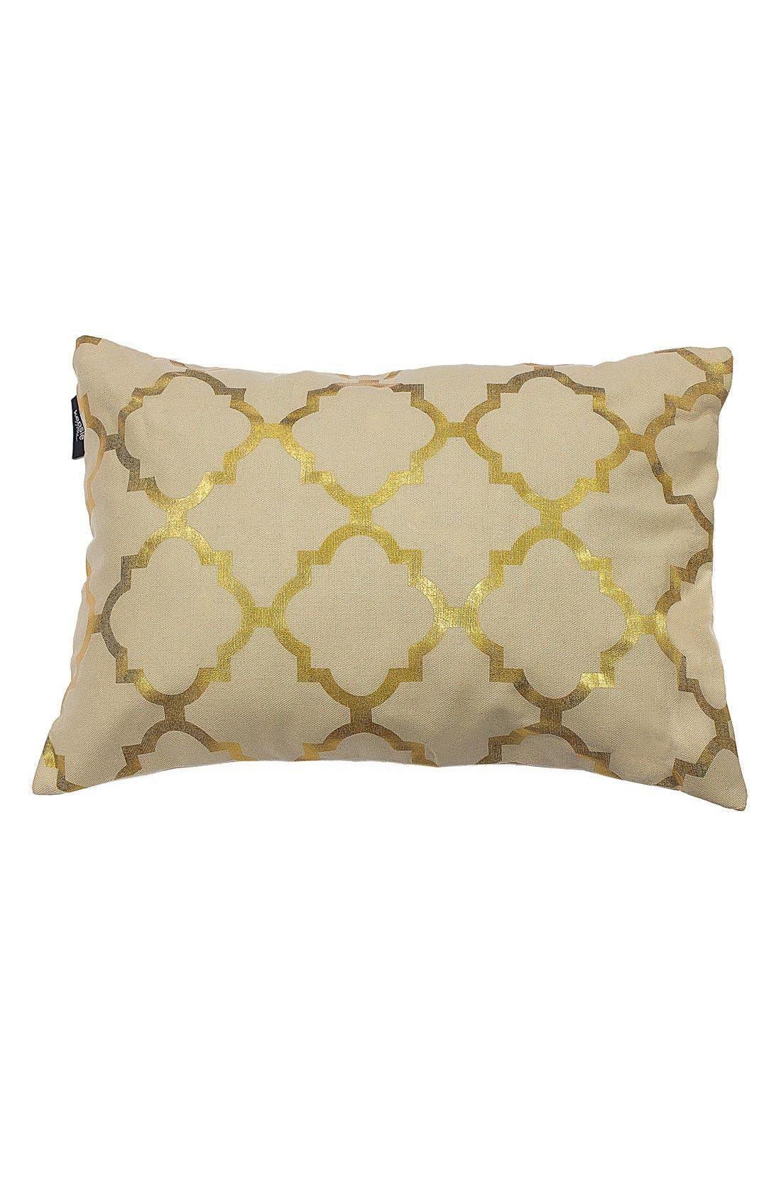 Main Image - kensie 'Holly' Metallic Lattice Pillow