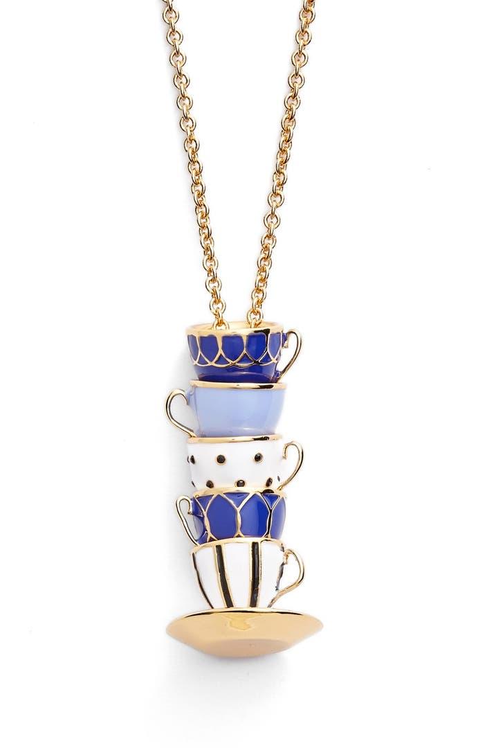 kate spade new york 39 tea time 39 pendant necklace nordstrom. Black Bedroom Furniture Sets. Home Design Ideas