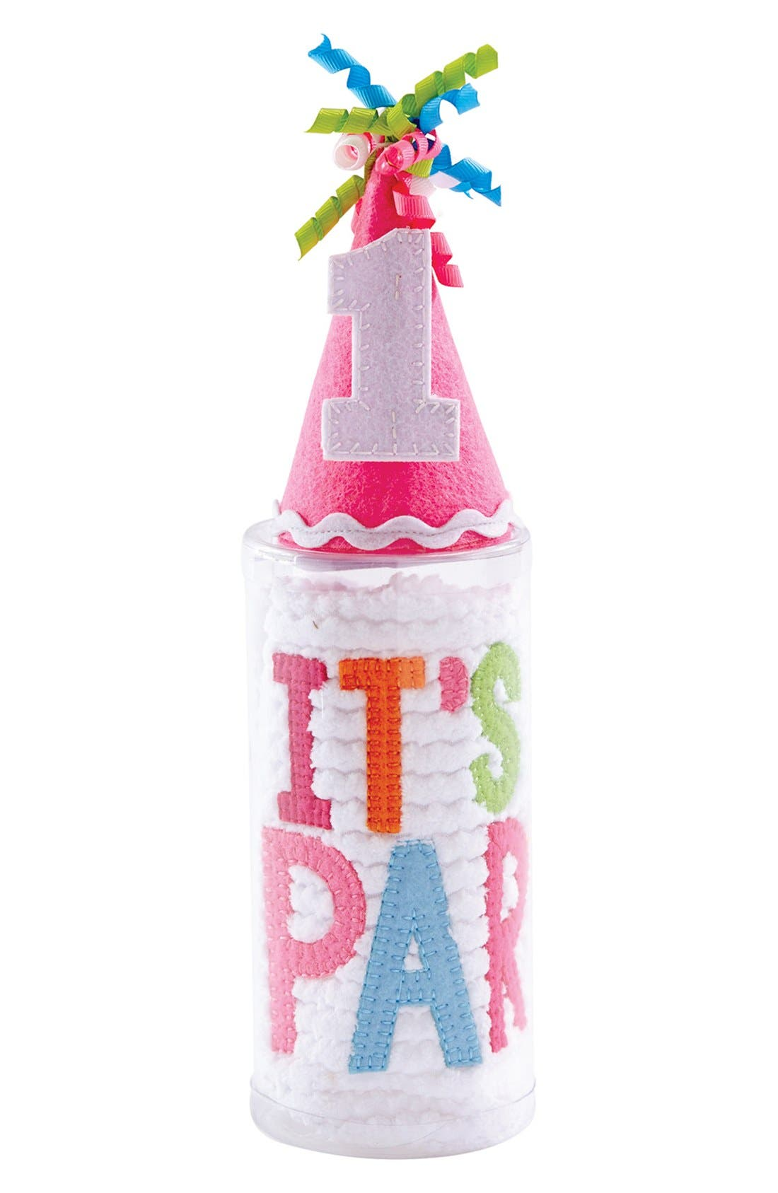 MUD PIE Cake Smashing Bib & Party Hat Set