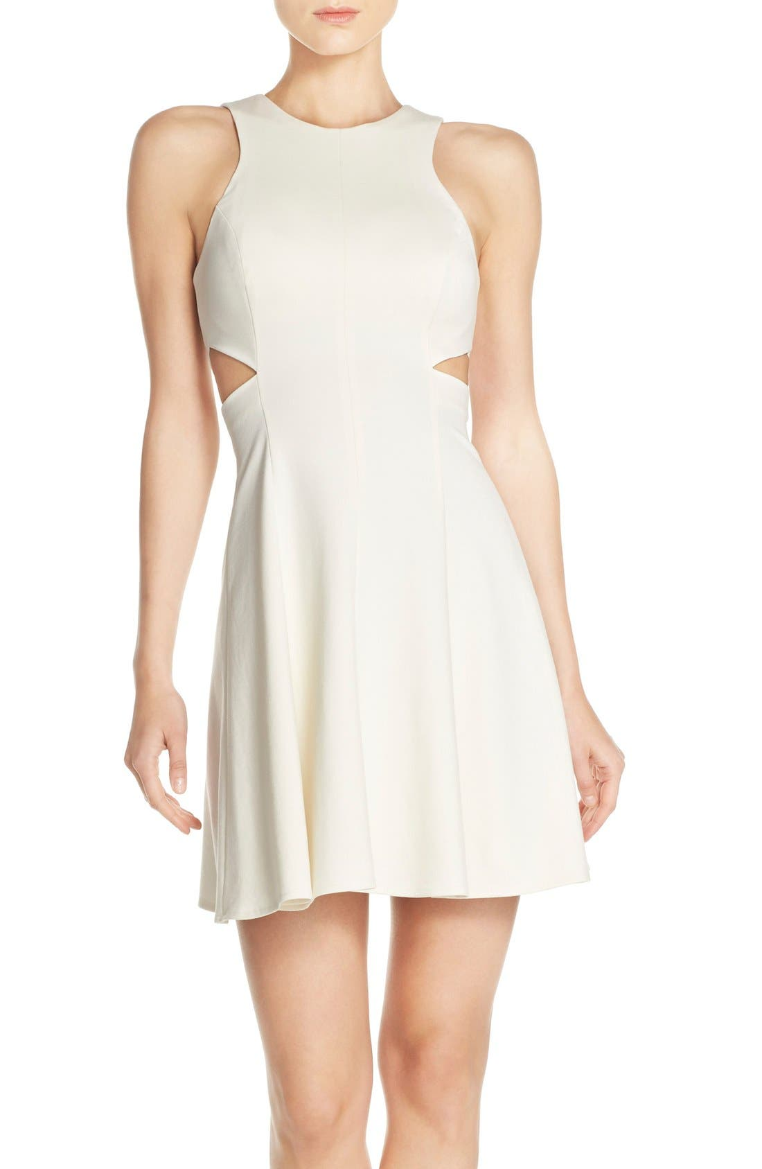 Alternate Image 1 Selected - Amanda Uprichard 'Juliet' Side Cutout Ponte Dress
