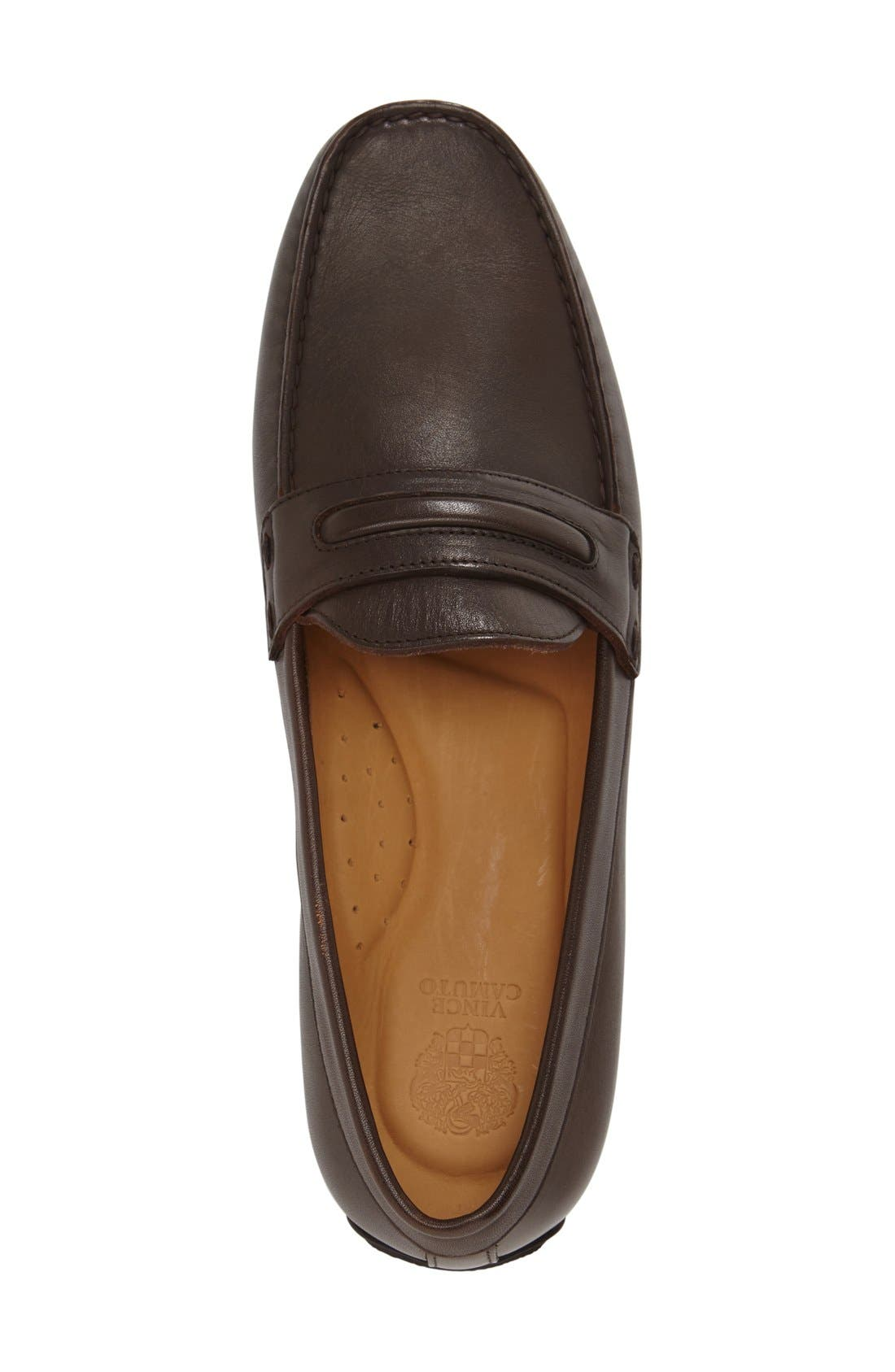 'Donte' Driving Shoe,                             Alternate thumbnail 3, color,                             Espresso Leather