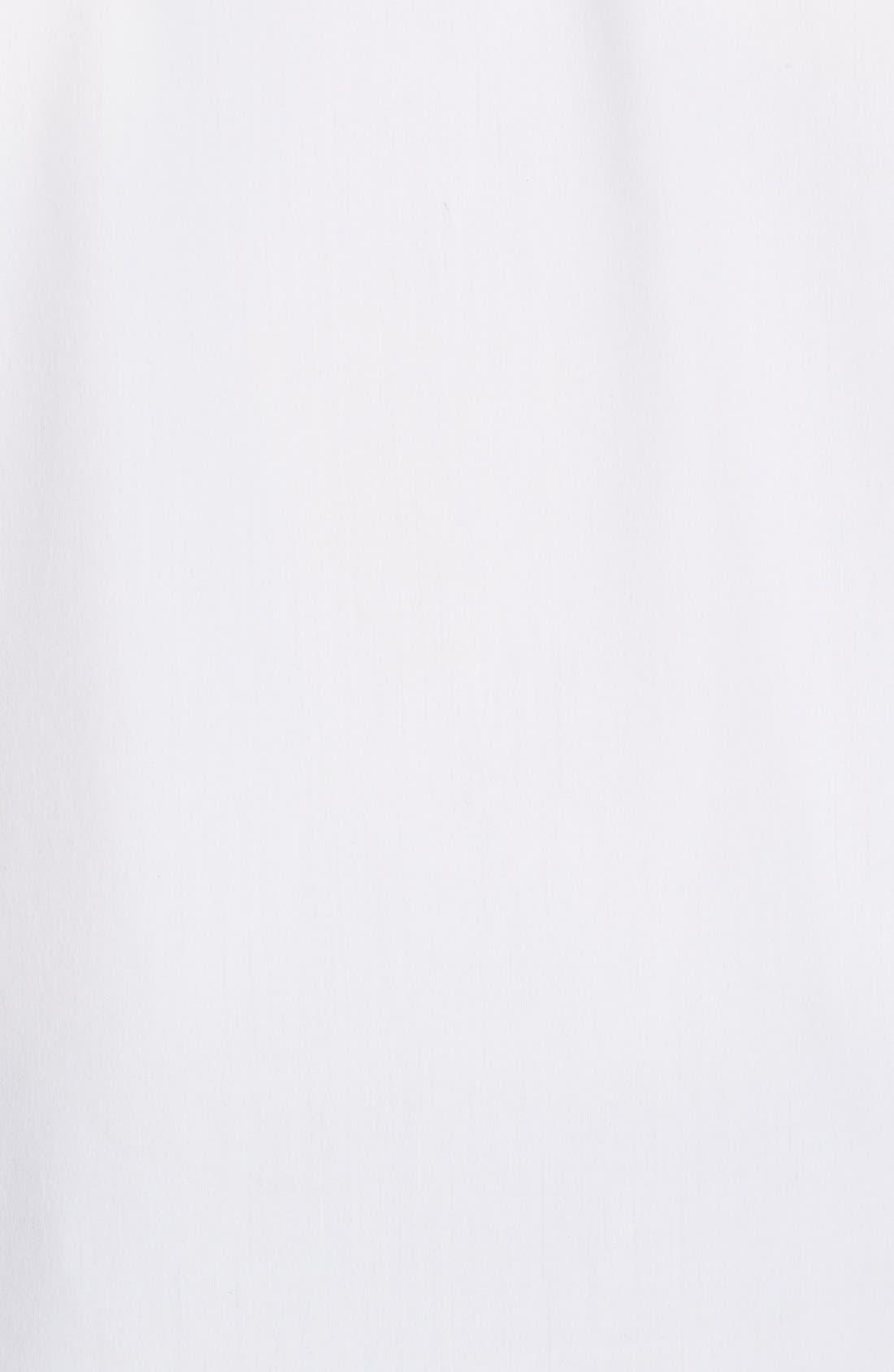 Keyhole Neck Poplin Shirt,                             Alternate thumbnail 6, color,                             White