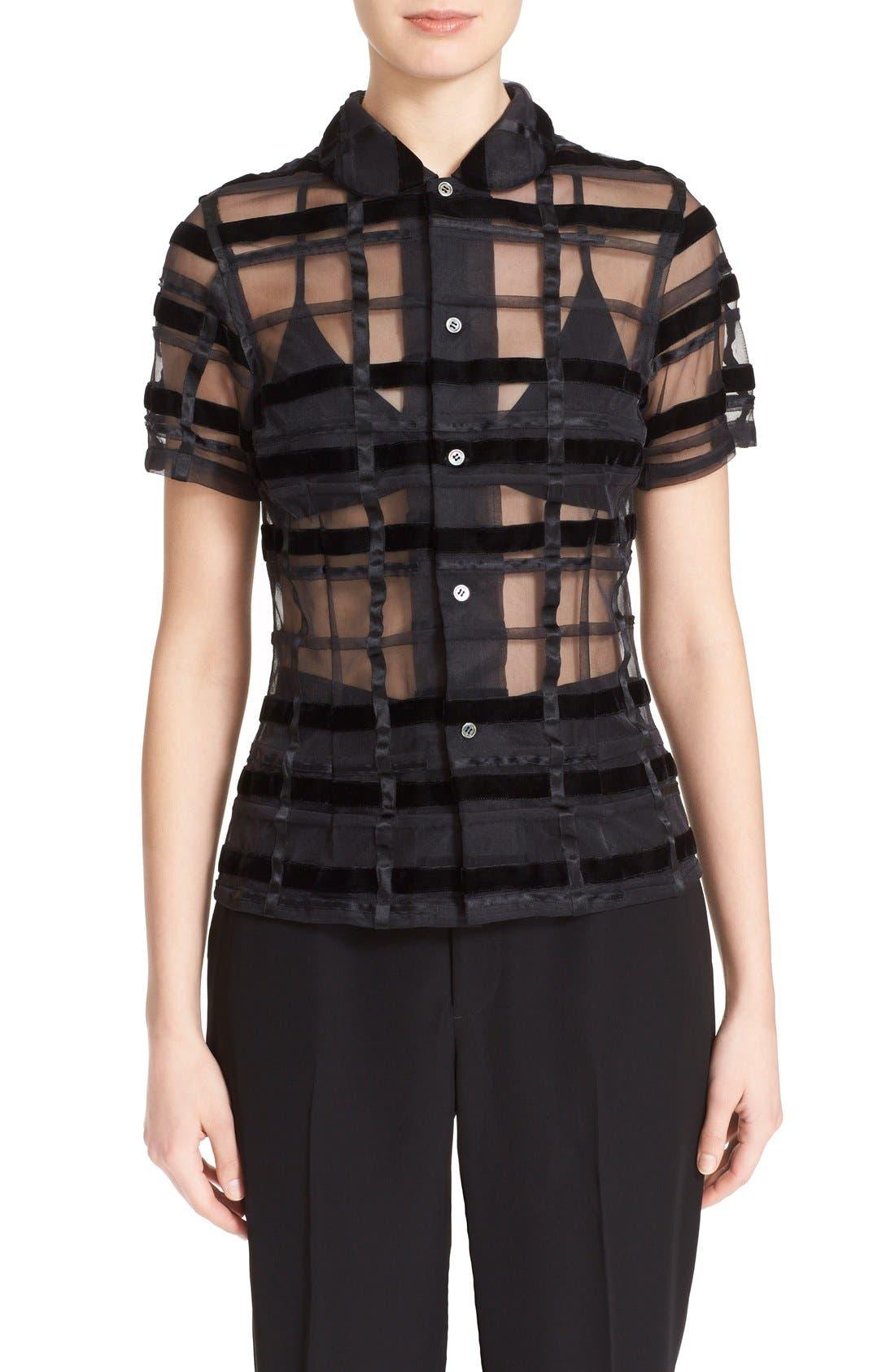 Main Image - Comme des Garçons Sheer Button Front Blouse