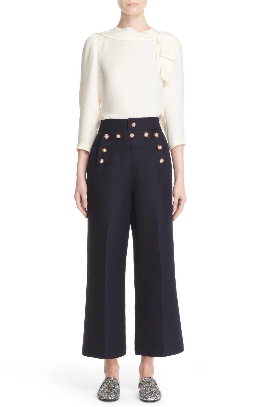 Alternate Image 8  - MARC JACOBS Wool & Silk Crop Sailor Pants