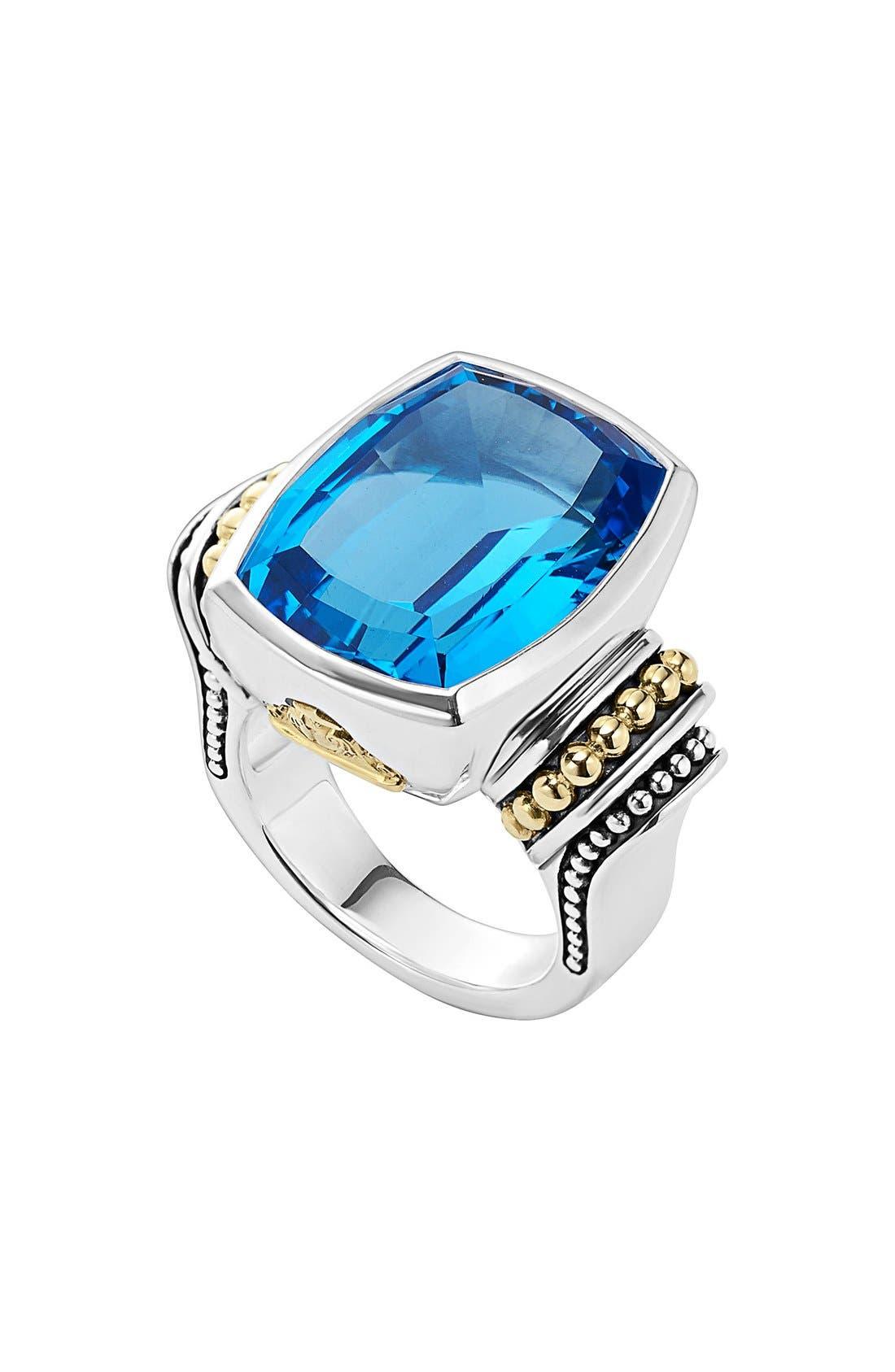 LAGOS Caviar Color Large Semiprecious Stone Ring
