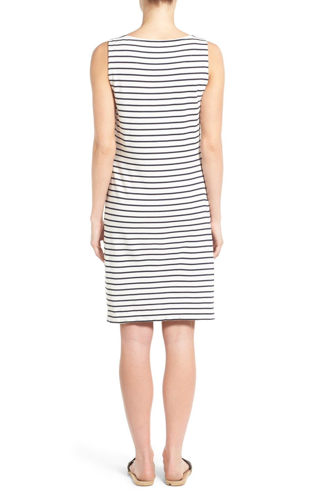 Alternate Image 2  - Barbour Dalmore Stripe Jersey Sleeveless Shift Dress