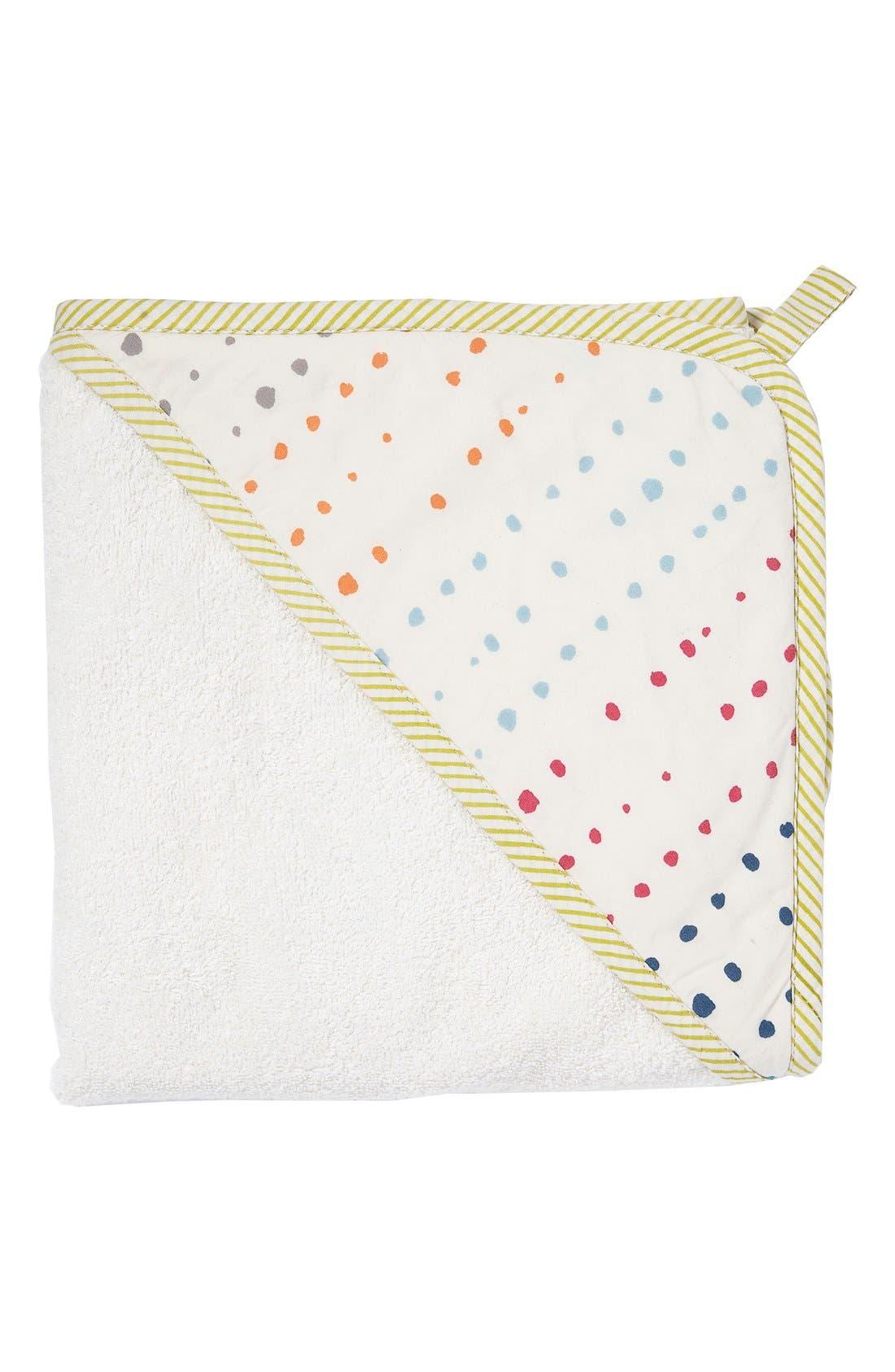 Print Hooded Towel,                             Main thumbnail 1, color,                             Painted Dots