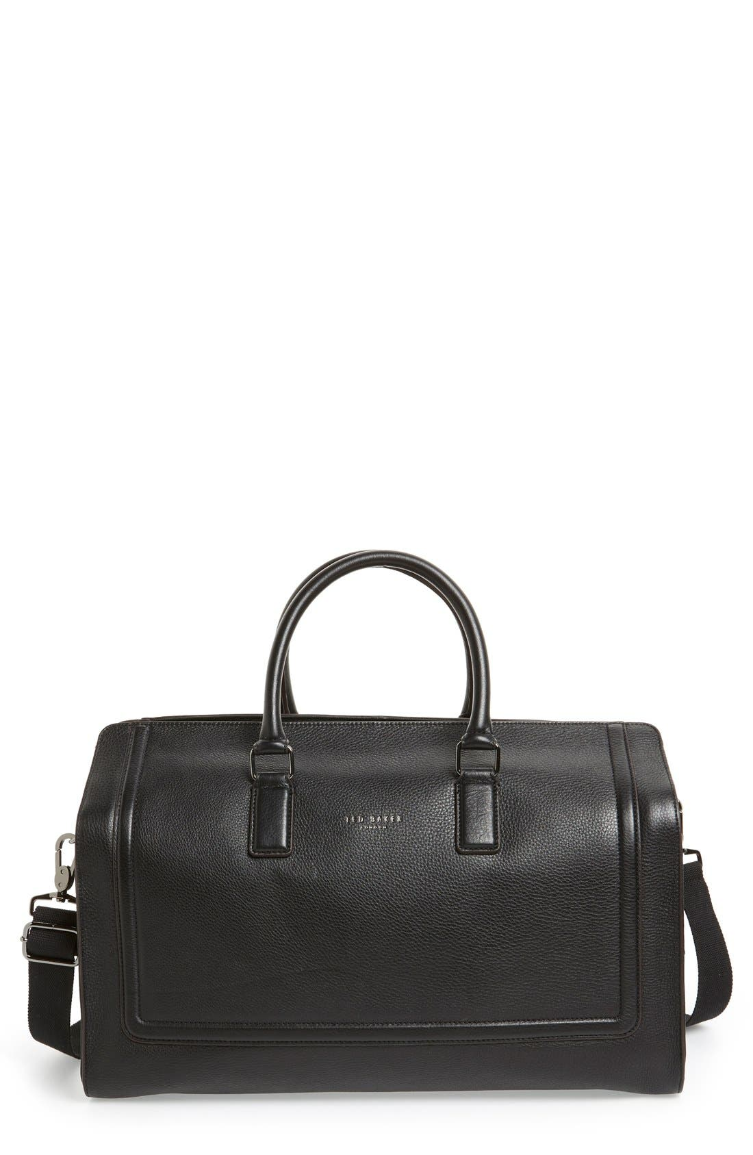 Alternate Image 1 Selected - Ted Baker London 'Shalala' Leather Duffel Bag