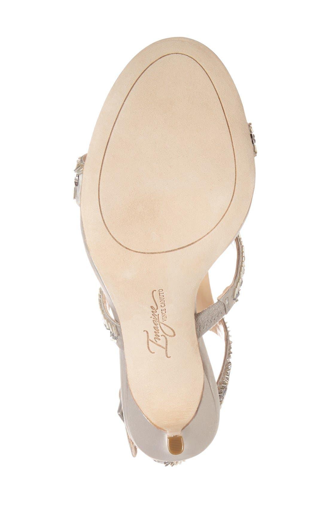 Alternate Image 4  - Imagine Vince Camuto 'Price' Beaded T-Strap Sandal (Women)