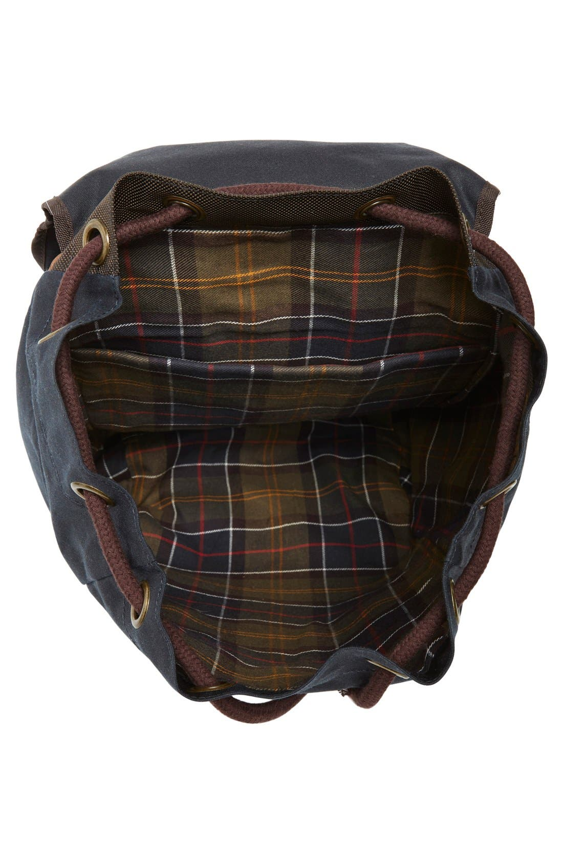 Alternate Image 5  - Barbour Waxed Canvas Backpack