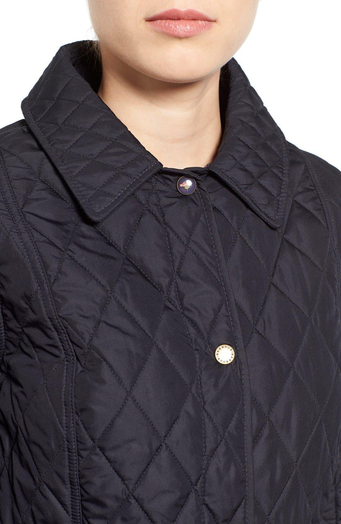 Alternate Image 4  - Barbour 'Herterton' Lightweight Diamond Quilt Jacket