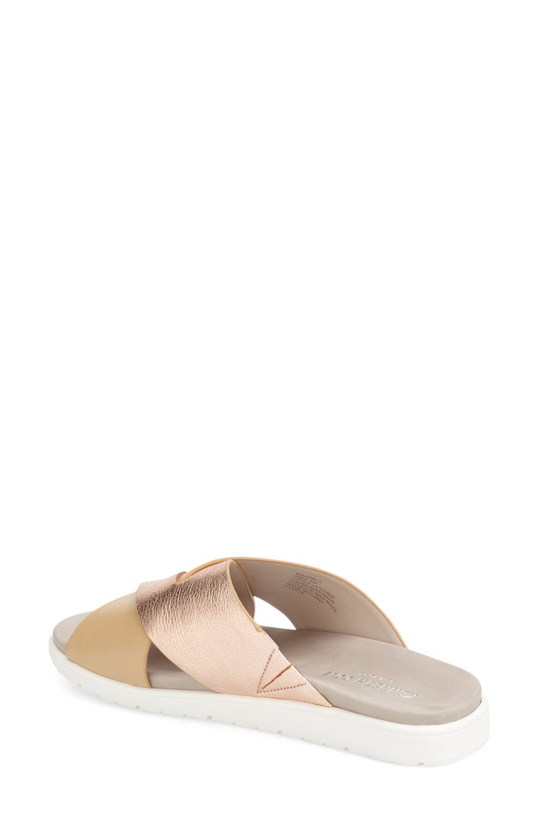 'Maxwell' Sandal,                             Alternate thumbnail 2, color,                             Rose Gold/ Nude Leather