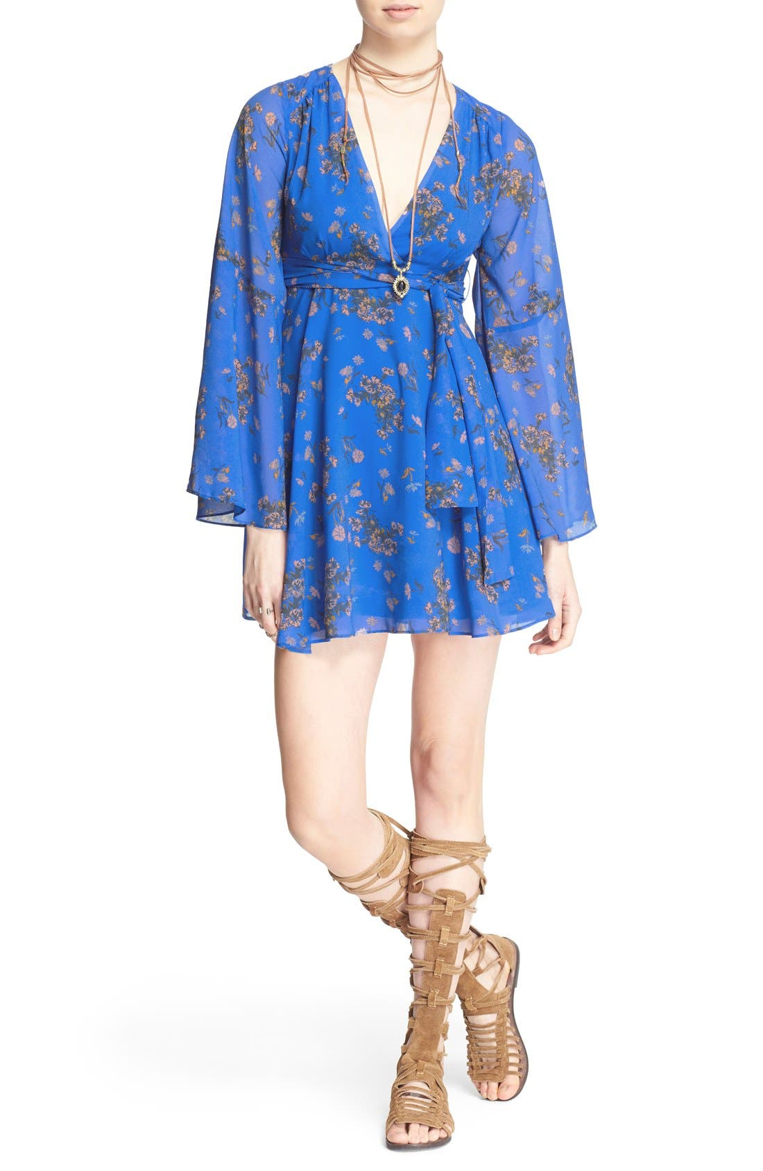 Alternate Image 1 Selected - Free People 'Lilou' Floral Print Minidress