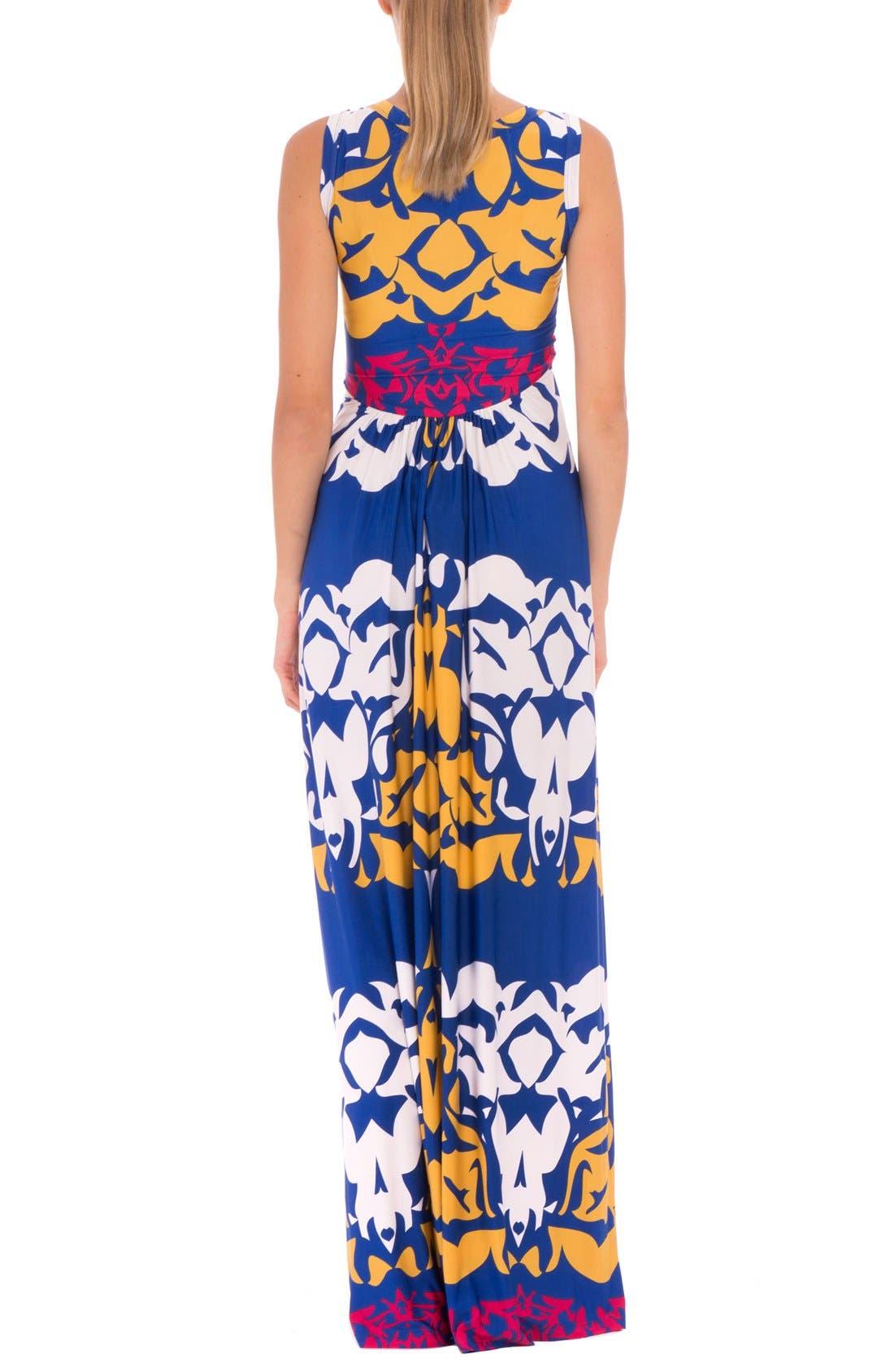 'Ellie' Print Maternity Maxi Dress,                             Alternate thumbnail 2, color,                             Blue Multi