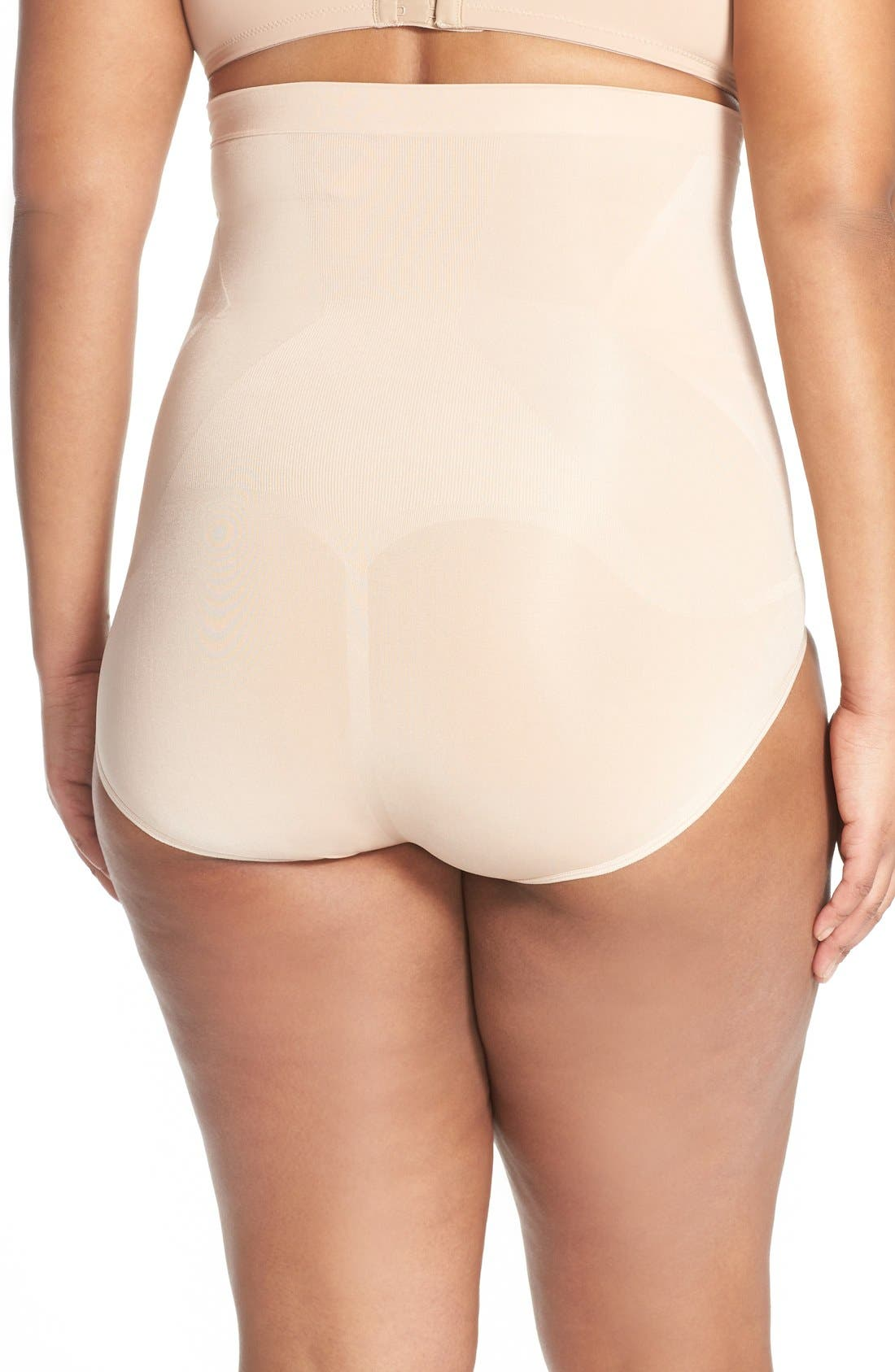 OnCore High Waist Briefs,                             Alternate thumbnail 2, color,                             Soft Nude