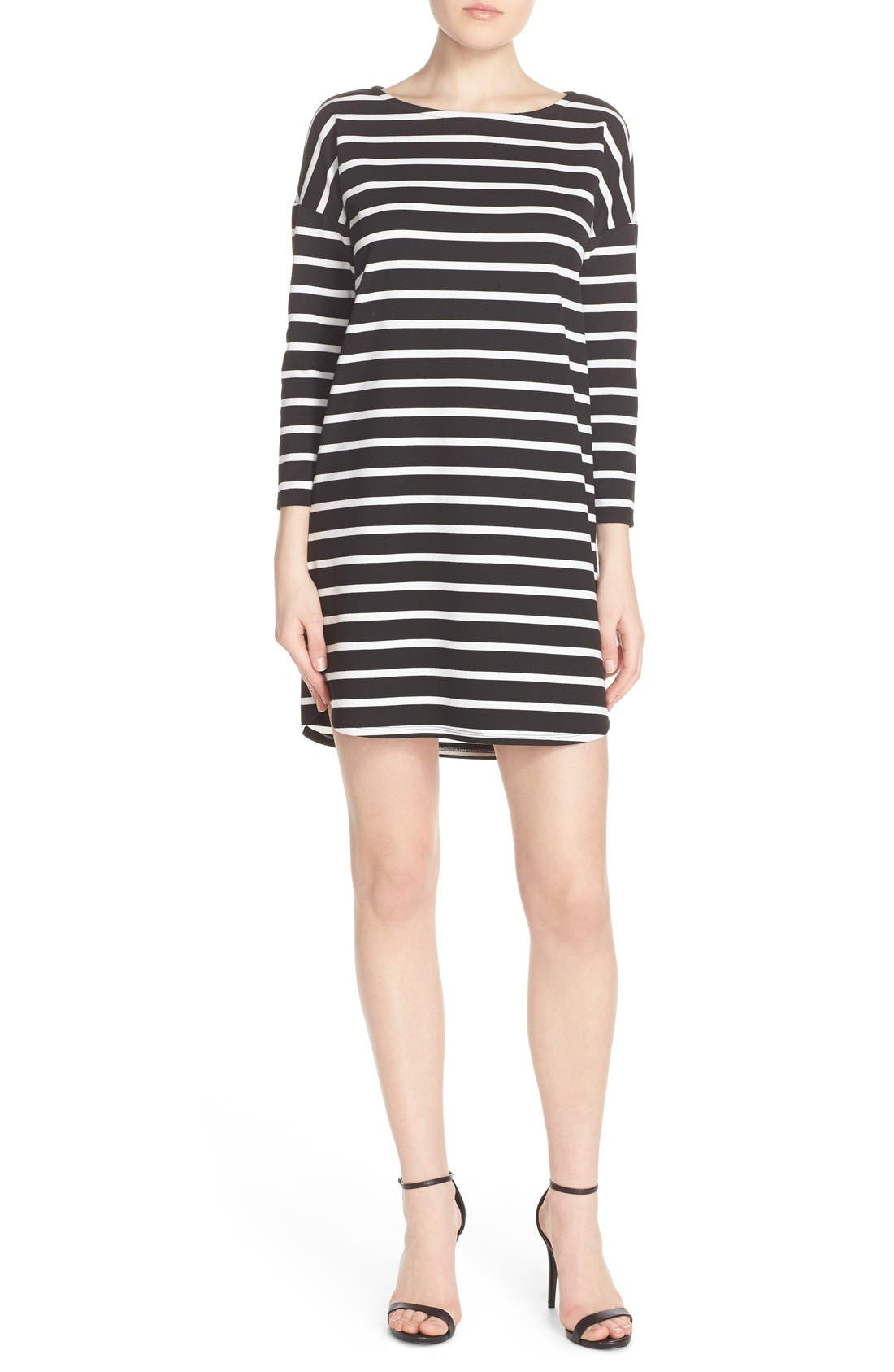 BB DAKOTA Phillipa Stripe Ponte Shift Dress