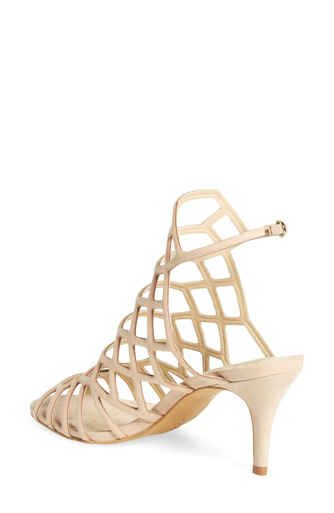 'Paxton' Slingback Sandal,                             Alternate thumbnail 2, color,                             Nude Leather